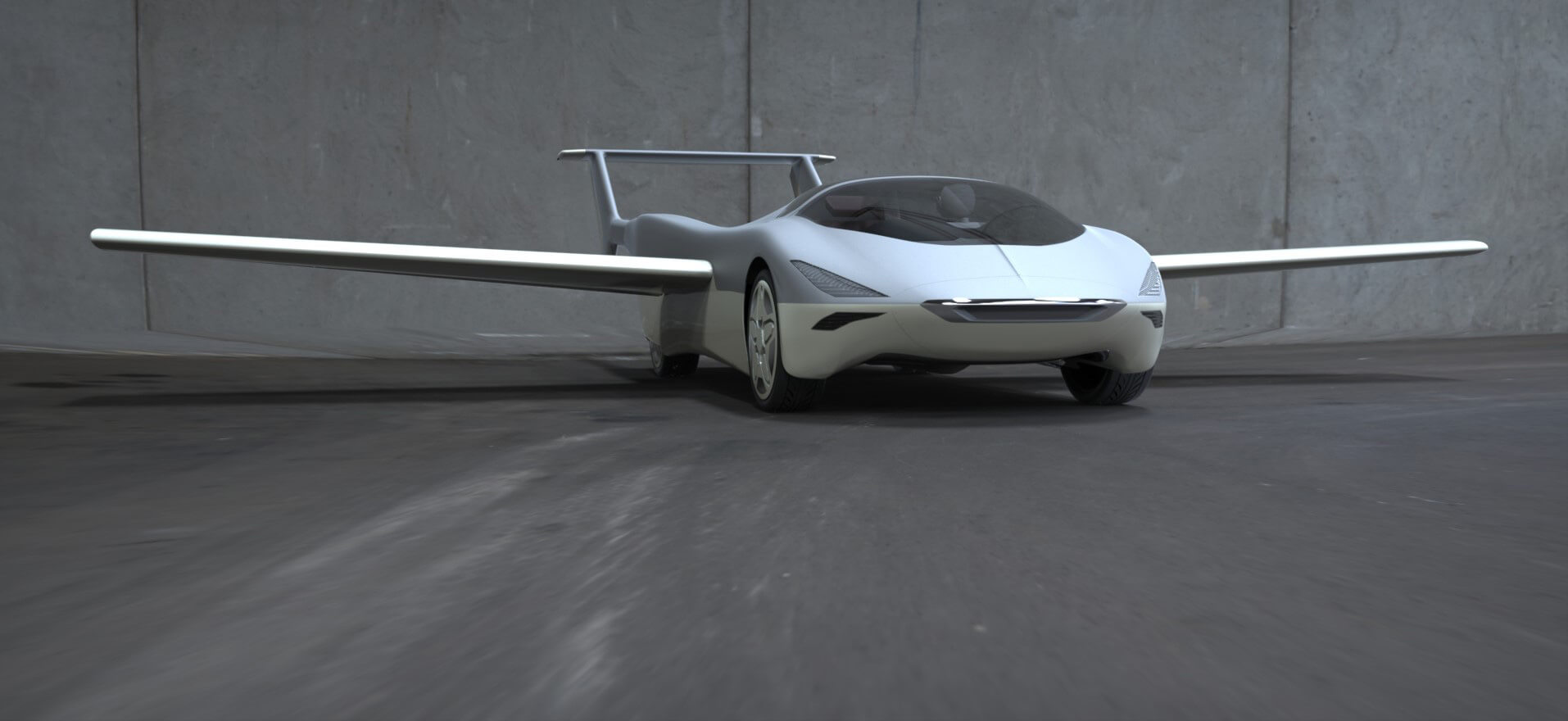 Visualisation of the AirCar with its wings deployed | AirCar | Klein Vision | STIRworld
