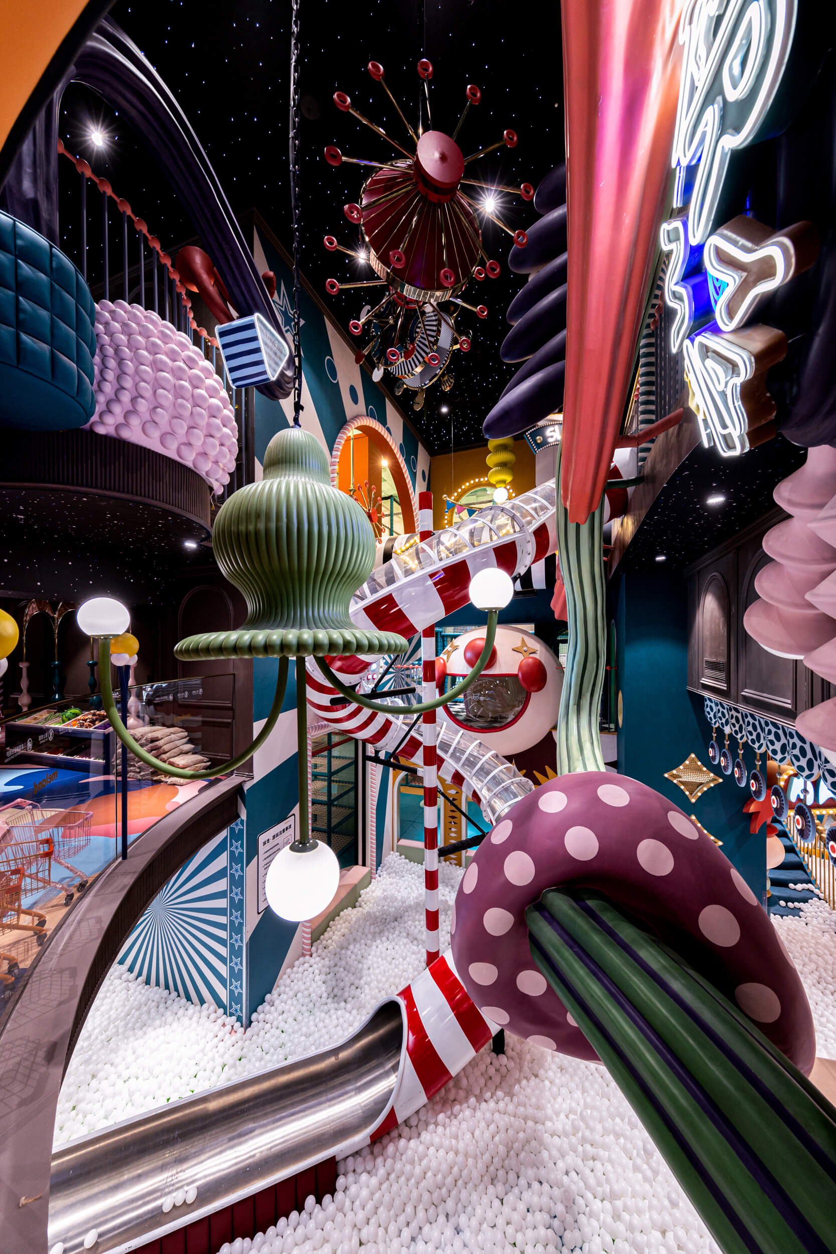 A riot of geometric forms and colours make up the playscape | X+LIVING | Shenzhen | STIRworld