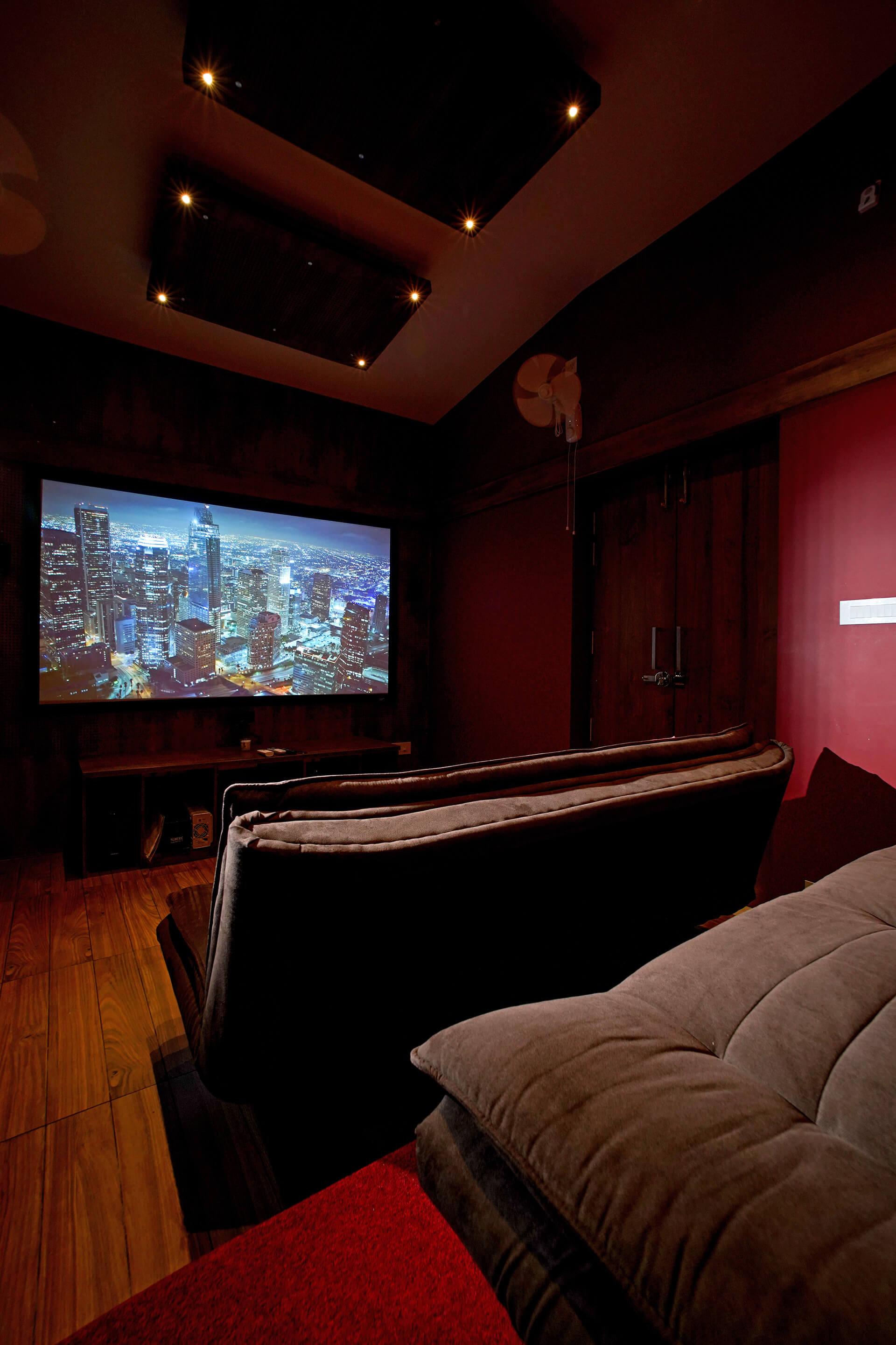 Home theatre | Box House designed by Uru Consulting | STIRworld