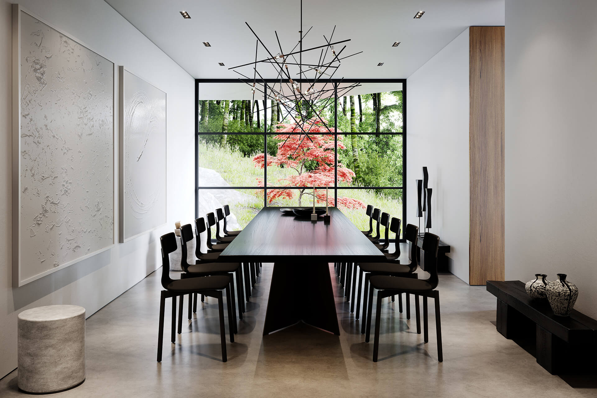 The dining area | Crestwood Residence by Ancerl Studio | STIRworld
