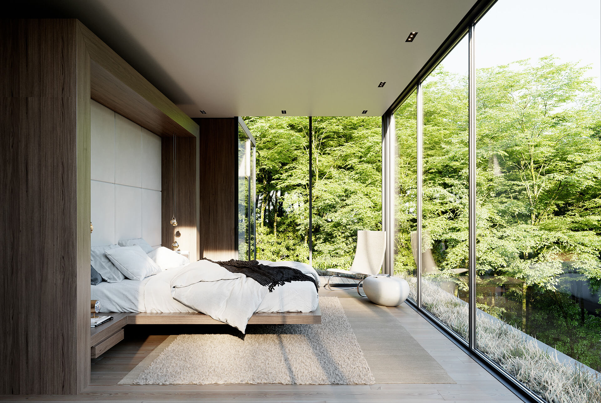 The master bedroom area | Crestwood Residence by Ancerl Studio | STIRworld