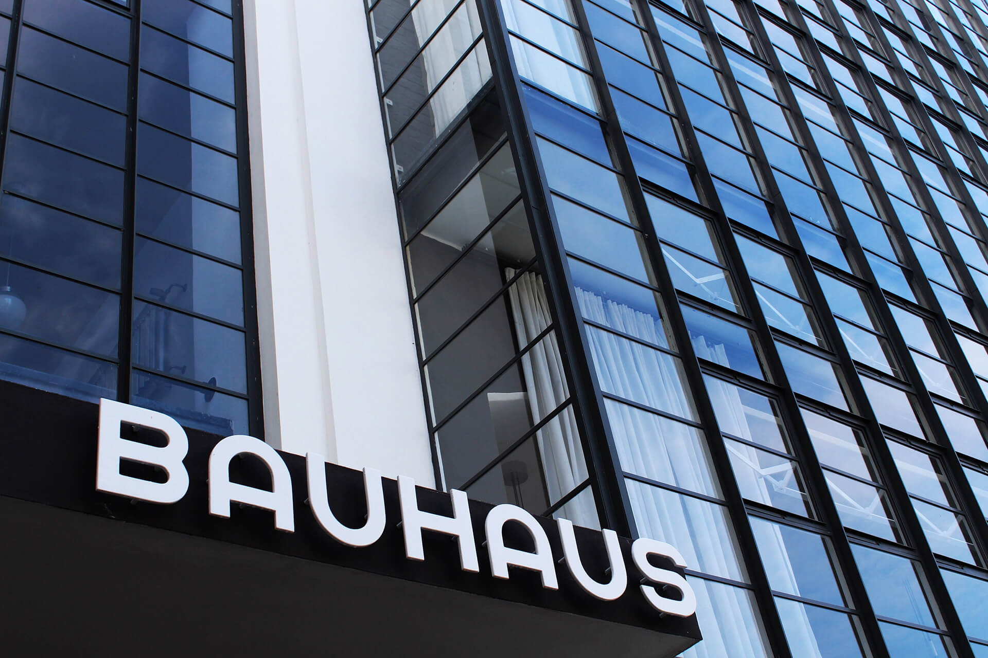 The iconic Bauhaus typography on the entrance to the building in Dessau, a UNESCO world heritage site | European Bauhaus | European Commission | STIRworld