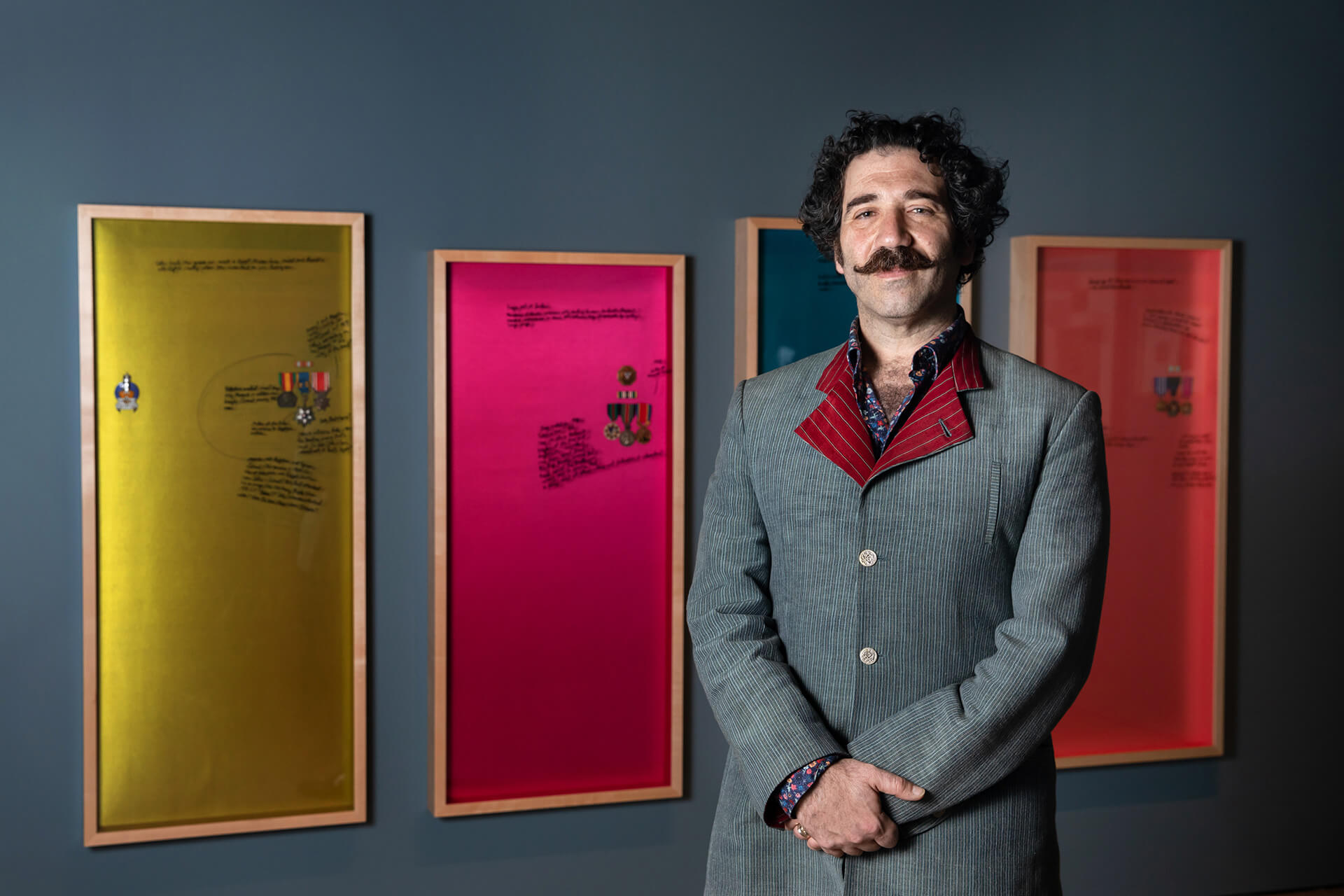Michael Rakowitz standing in front of a section of 'The Breakup' | Michael Rakowitz | STIRworld