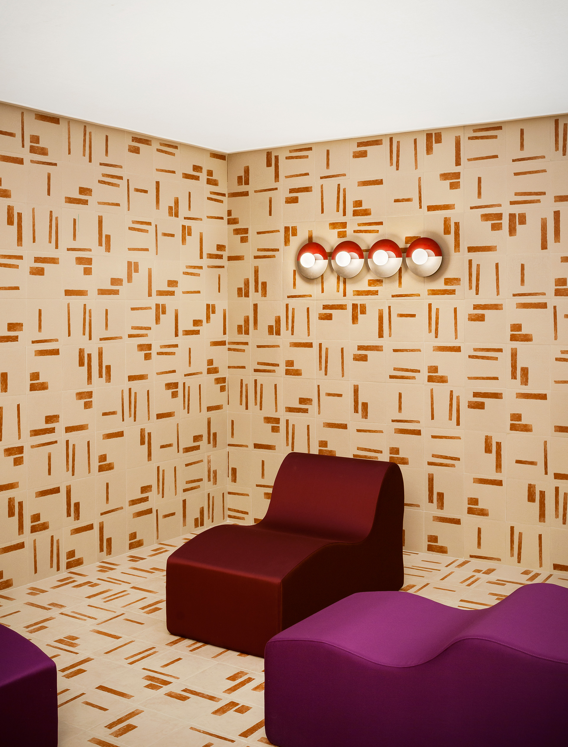 Walls in Ceramica Bardelli tiles| Studiopepe| Les Arcanistes - The Future is un/written| Salone del Mobile| STIR