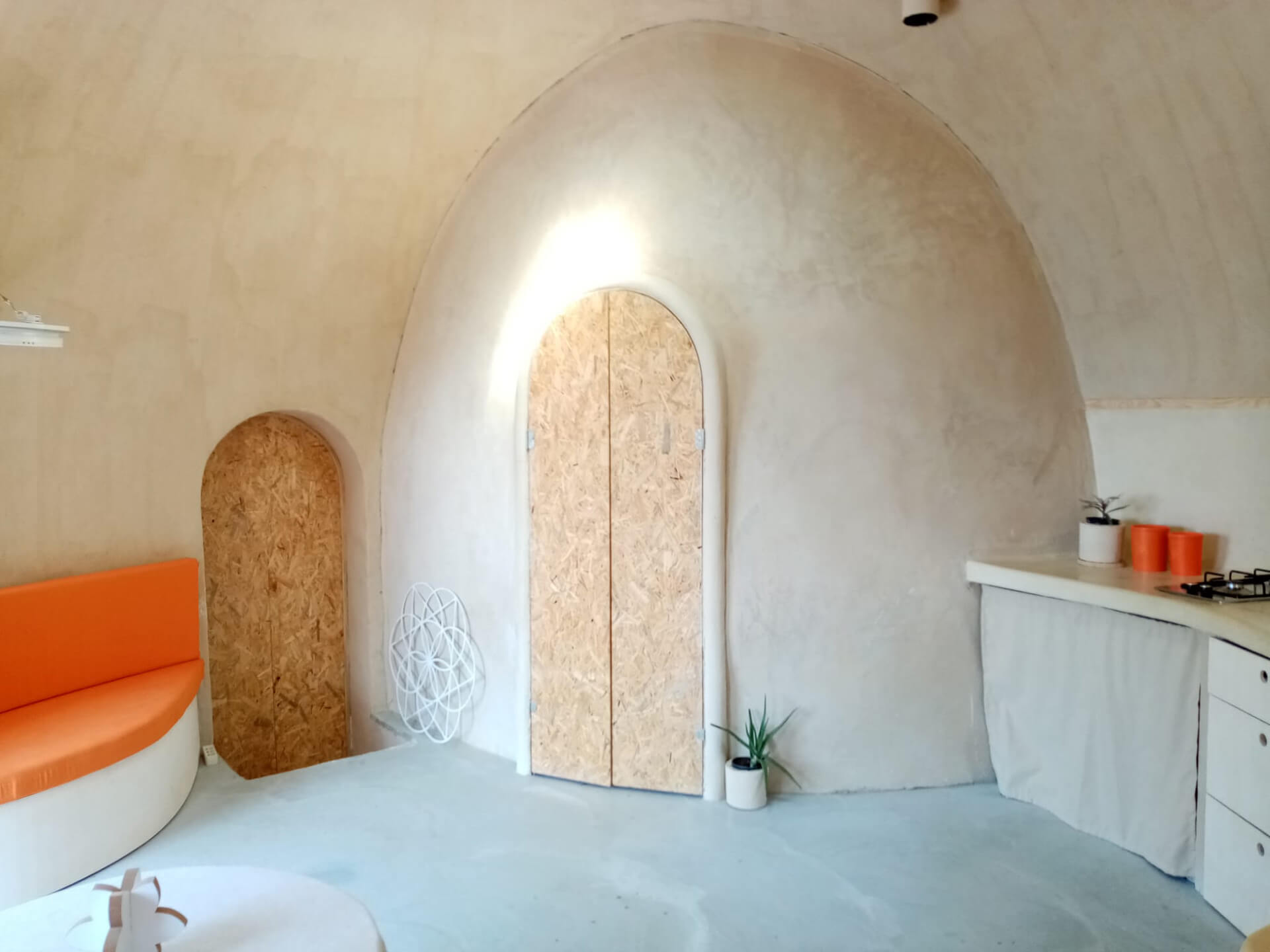 The bathroom also forms a subset of the dome | 44m<sup>2</sup> Low Impact Home | Matthew Prosser, Holistic Progression Designs | STIRworld