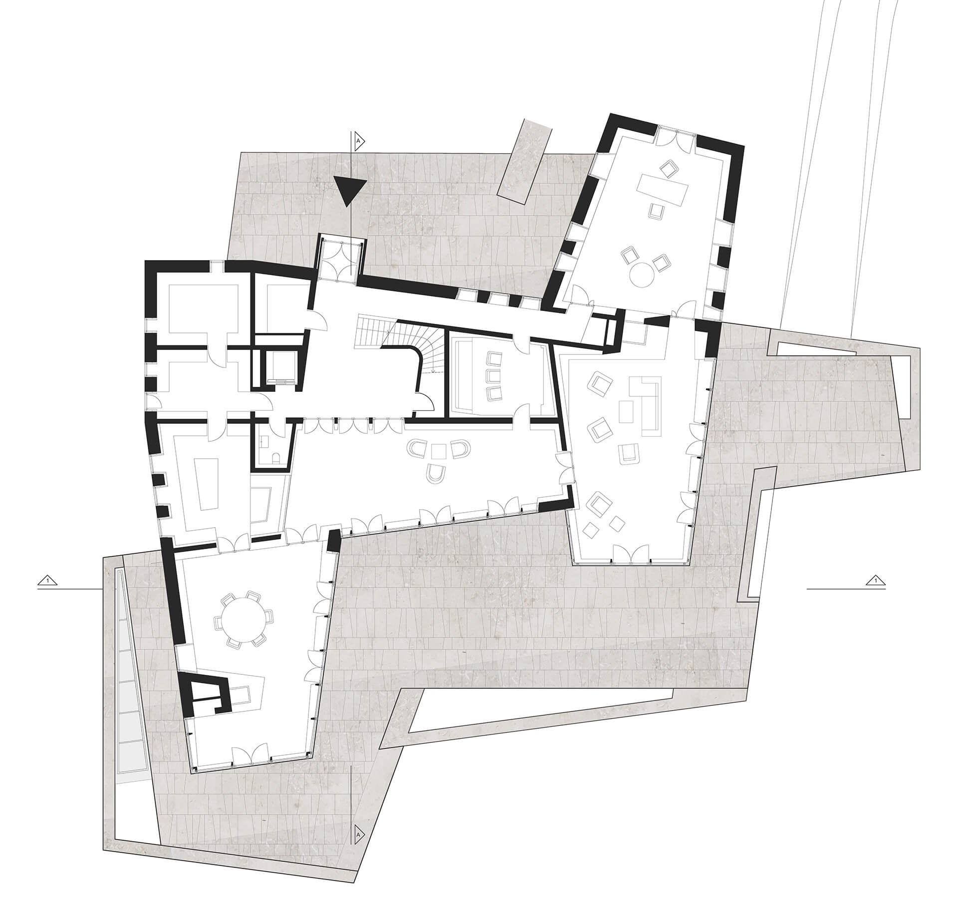 Ground floor plan | House on a North Sea Island | Hubschmitz Arkitekten | STIRworld