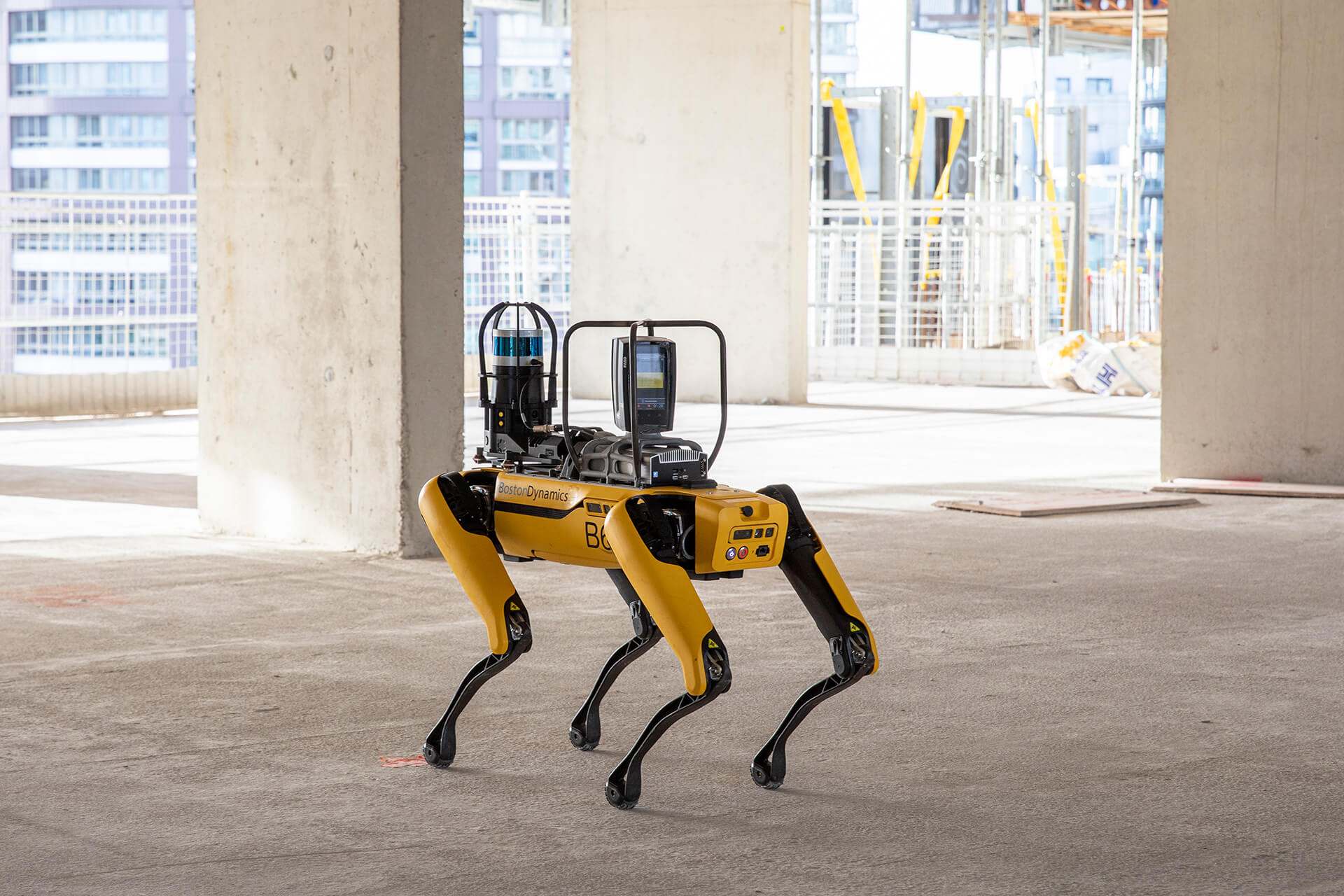 SPOT is terrain agnostic and can operate on pre-devised routes allowing for precise monitoring | SPOT Robotic Dog | Foster+Partners and Boston Dynamics | STIRworld