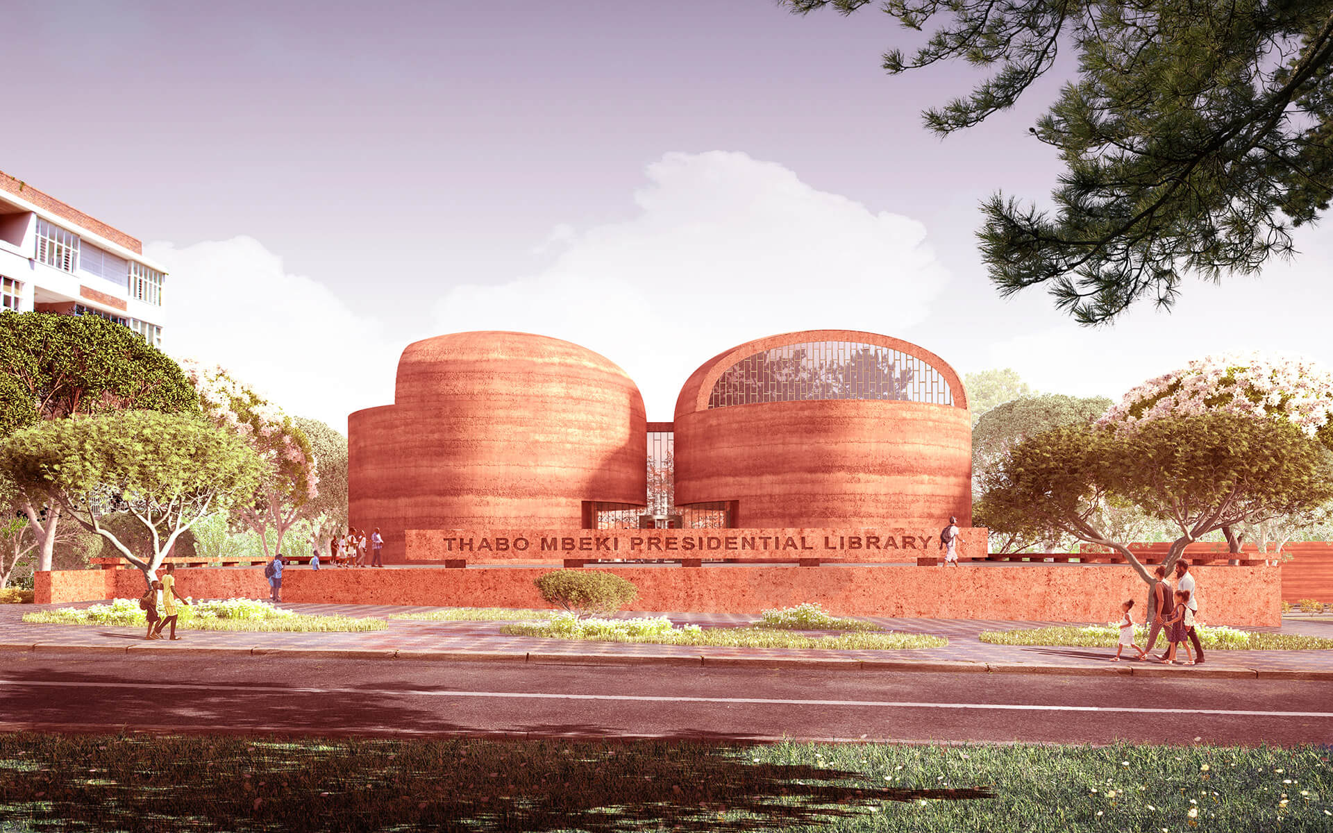 Main avenue entrance | Thabo Mbeki Presidential Library by Adjaye Associates | STIRworld