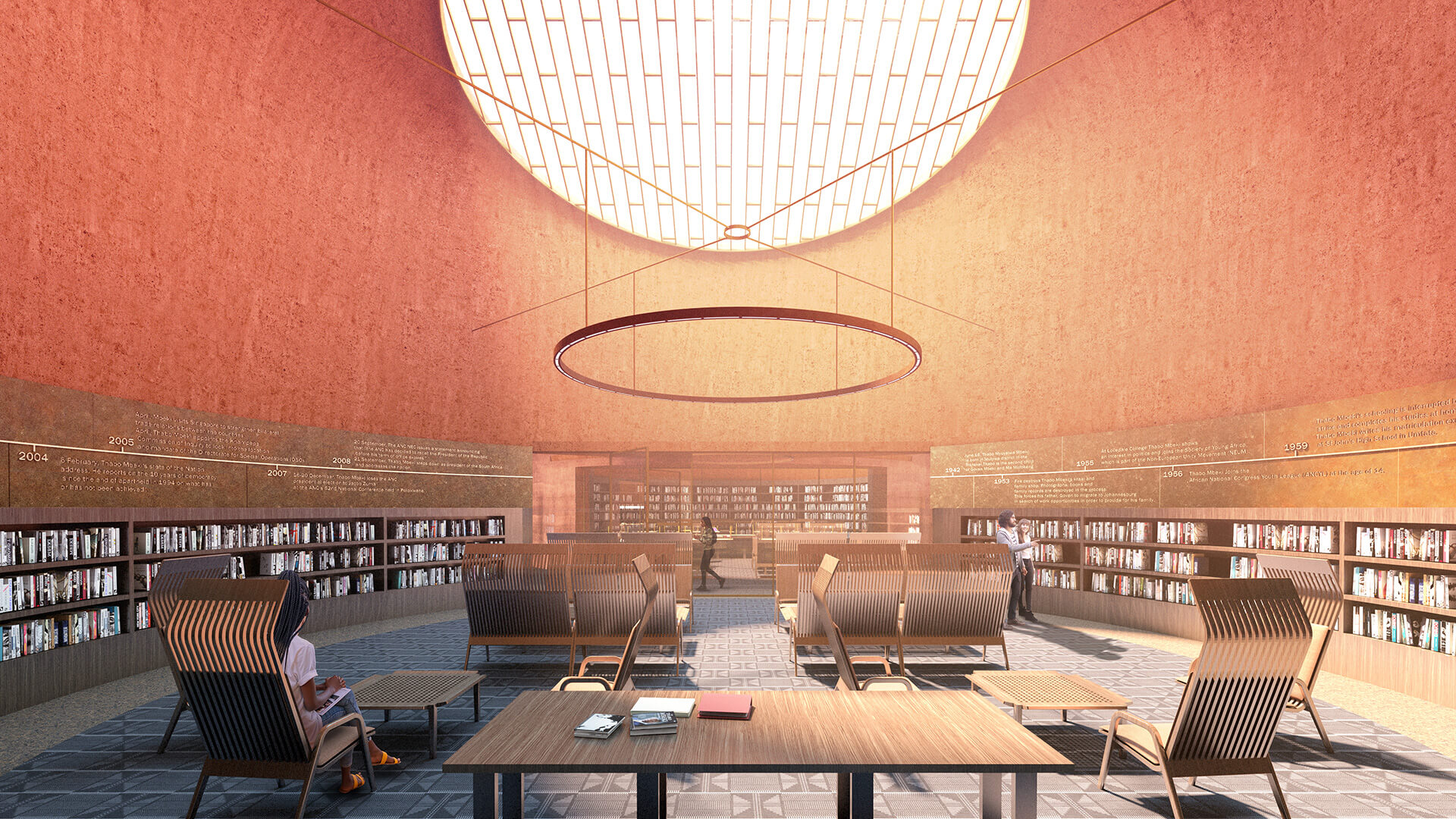 Visualisation of the reading room | Thabo Mbeki Presidential Library by Adjaye Associates | STIRworld