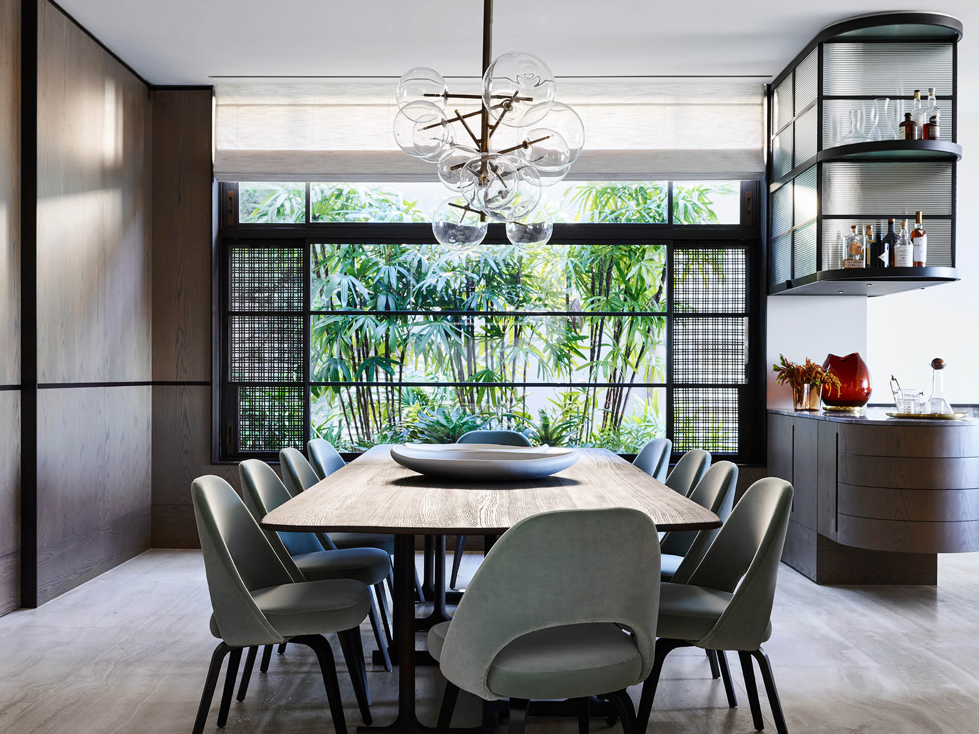 The dining area is one of the most interesting spaces in the house | Hill House Interiors | Decus Interiors | STIRworld