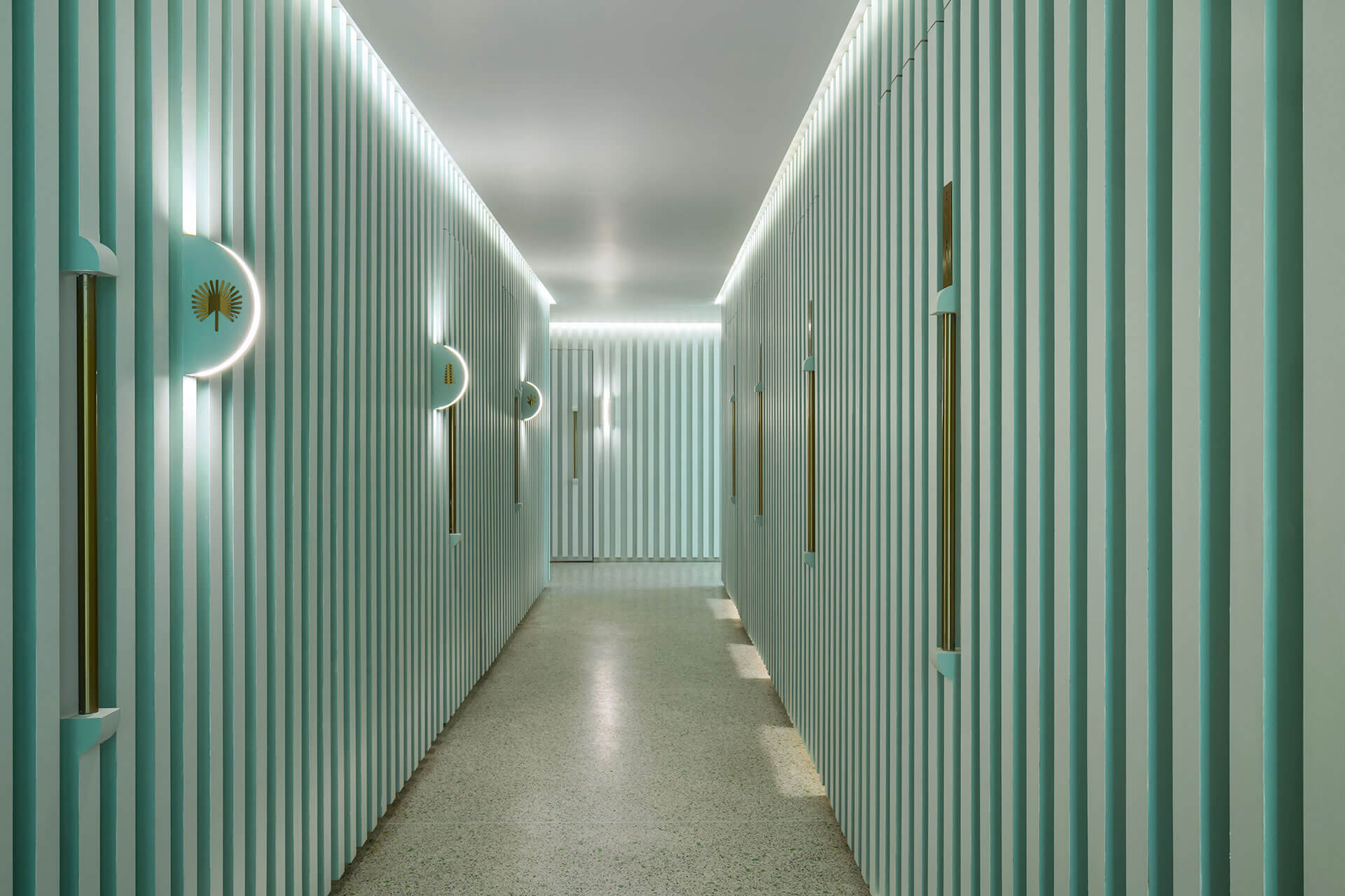 Corridor leading to the spa rooms | Infinity Wellbeing | Space Popular | STIRworld