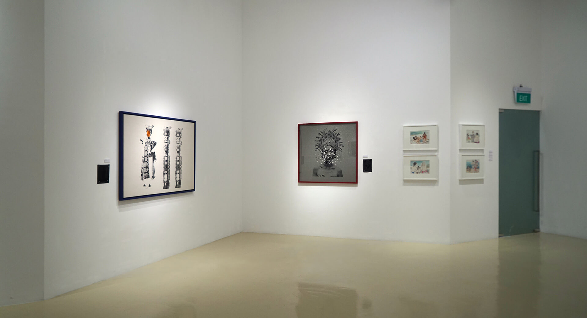 From left to right: 'Mevrouw Paradiso' (2018) and 'Give Me Pearl Necklace' by Octora, and 'Impressions of Bali' (2017) by Li Jin | (Re)Imagining the Image: Contemporary Artists in Asia Converse with Photography | Octora and Li Jin | STIRworld