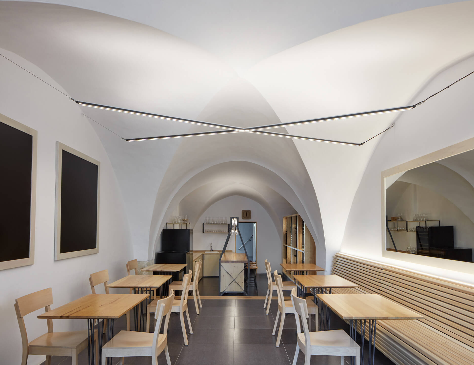 The double cross vaulted wine bar |Winery Nešetřil by ORA | STIRworld