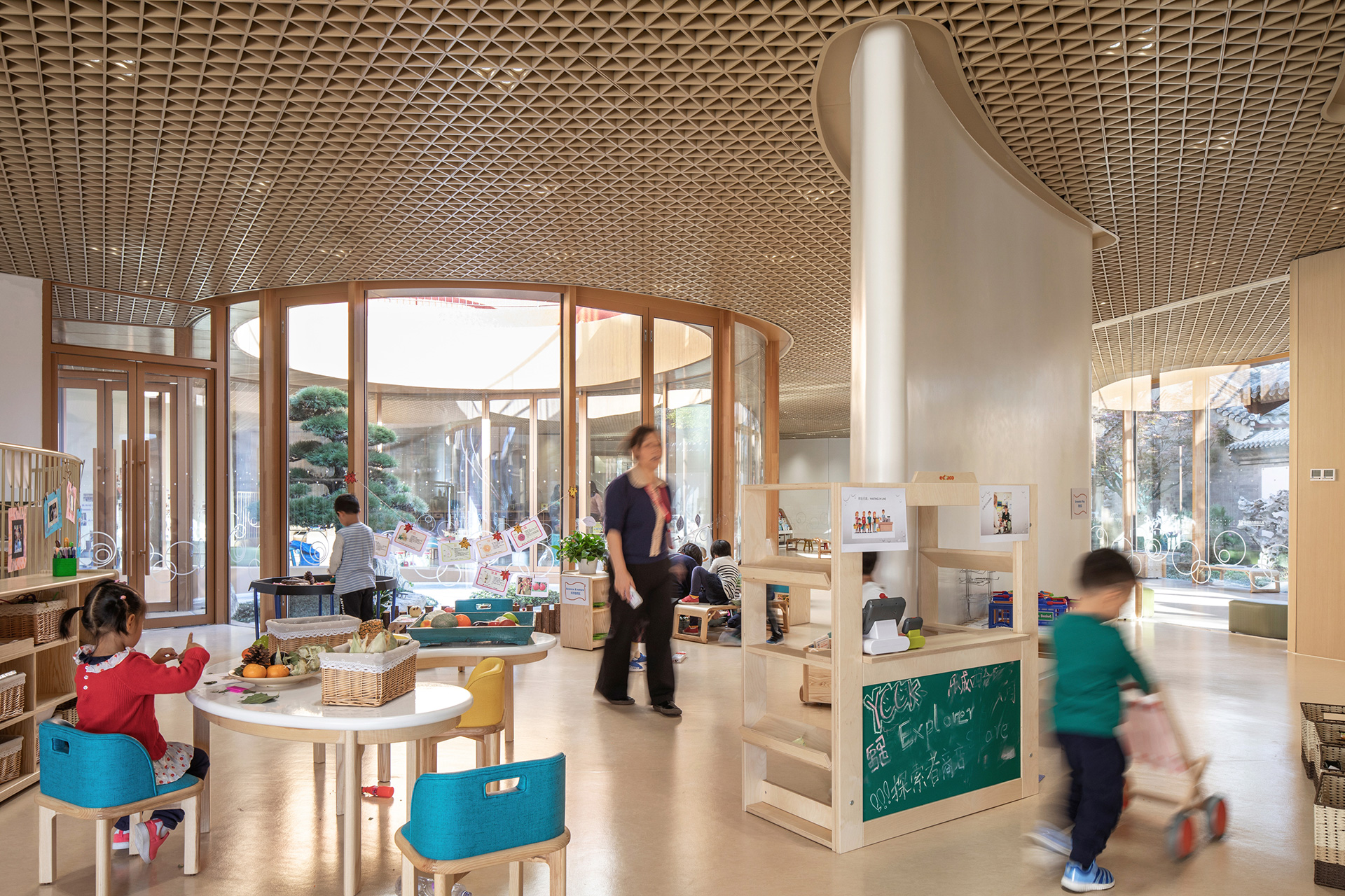 Inside the borderless learning space | YueCheng Courtyard Kindergarten designed by MAD | STIRworld