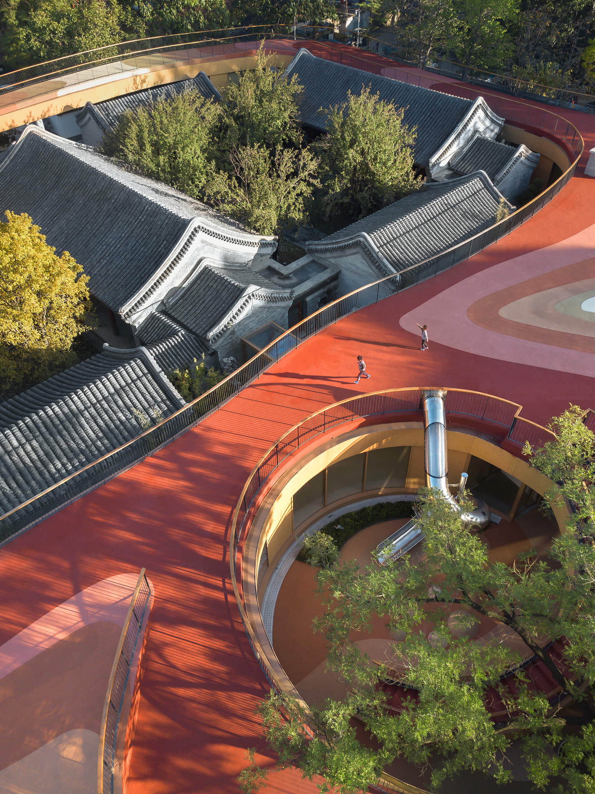 The architecture embraces the old and new | YueCheng Courtyard Kindergarten designed by MAD | STIRworld