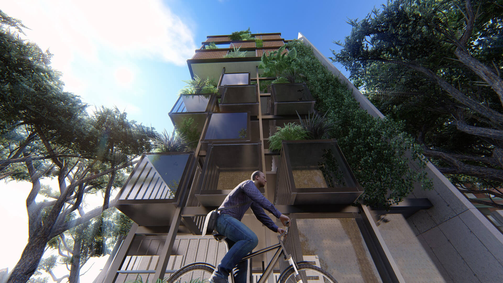 The Residential Tower in Hanoi that uses shipping containers to create varied spaces | Residential Tower in Hanoi | Studio VDGA | STIRworld