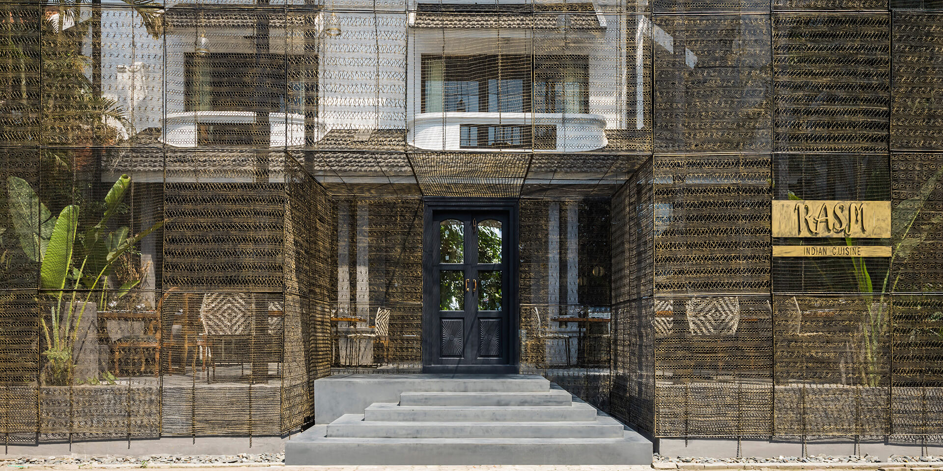 Rasm restaurant was created out of a façade of twin houses | RASM restaurant | Studio VDGA | STIRworld