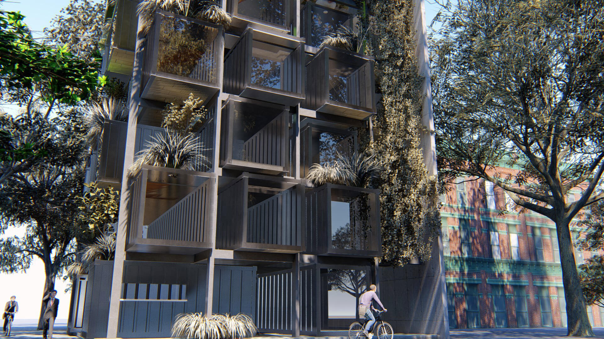 Re-use of shipping containers is the sustainable approach to building adapted by Studio VDGA in Vietnam | Residential Tower in Hanoi | Studio VDGA | STIRworld