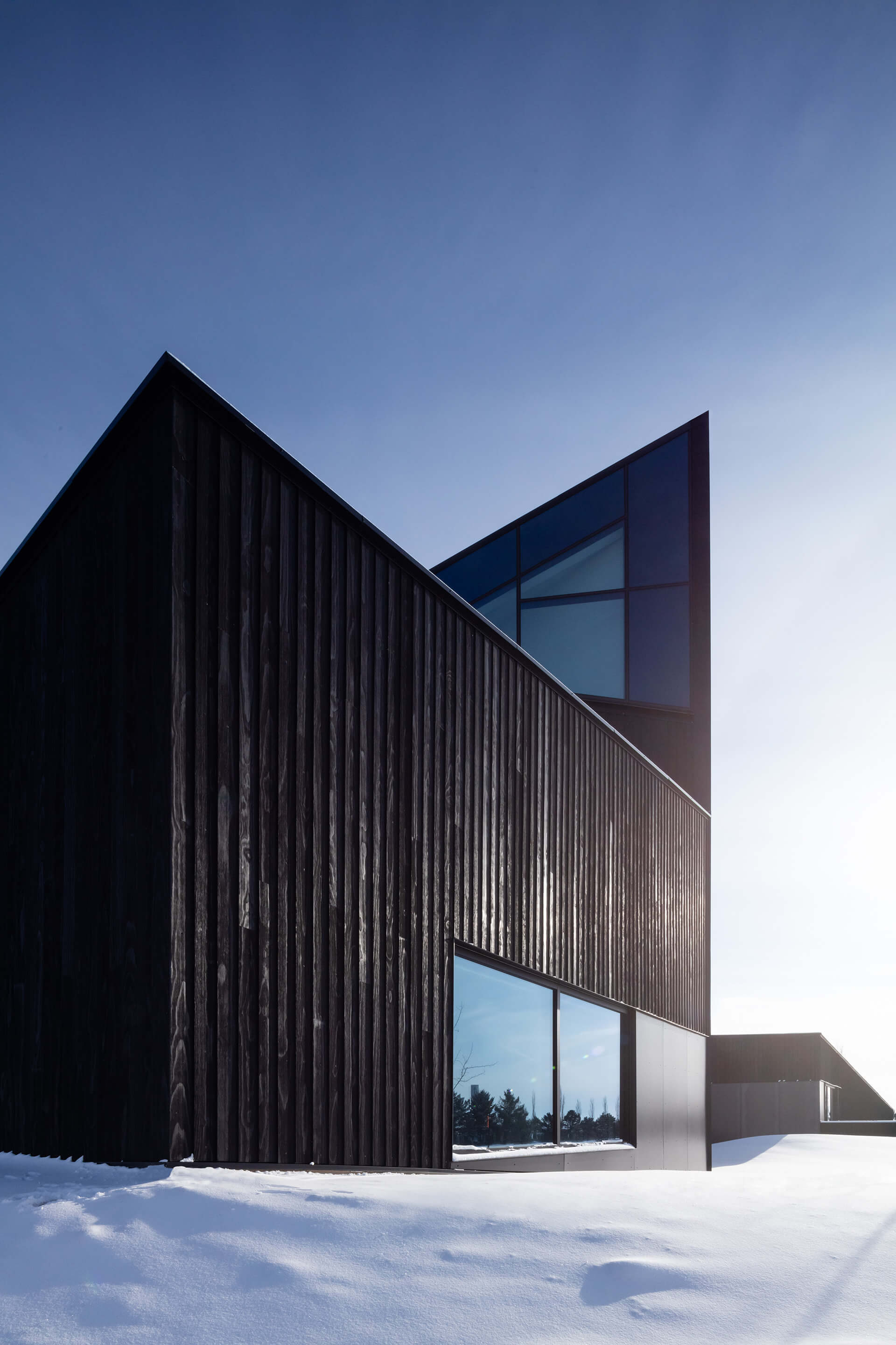 The façade is wrapped in Shou Sugi ban timber | South Haven Centre for Remembrance by Shape Architecture | STIRworld