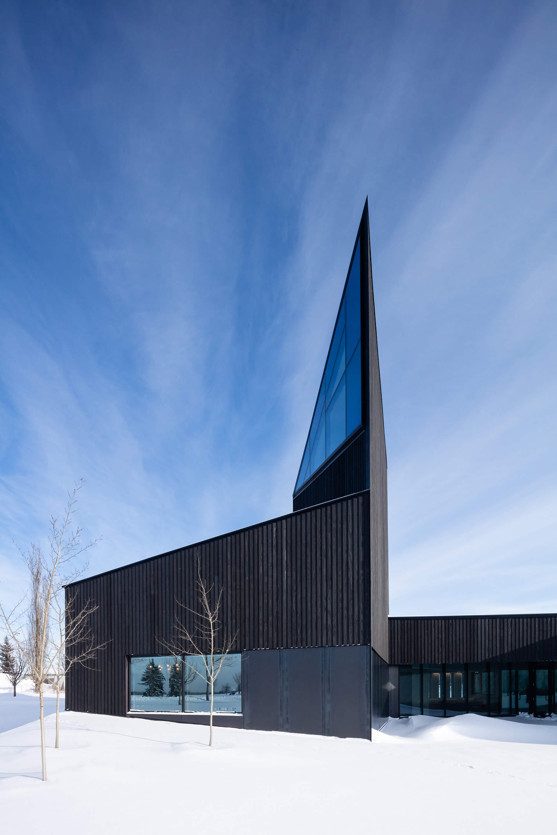 The 13m symbolic tower with windows on its angular top | South Haven Centre for Remembrance by Shape Architecture | STIRworld