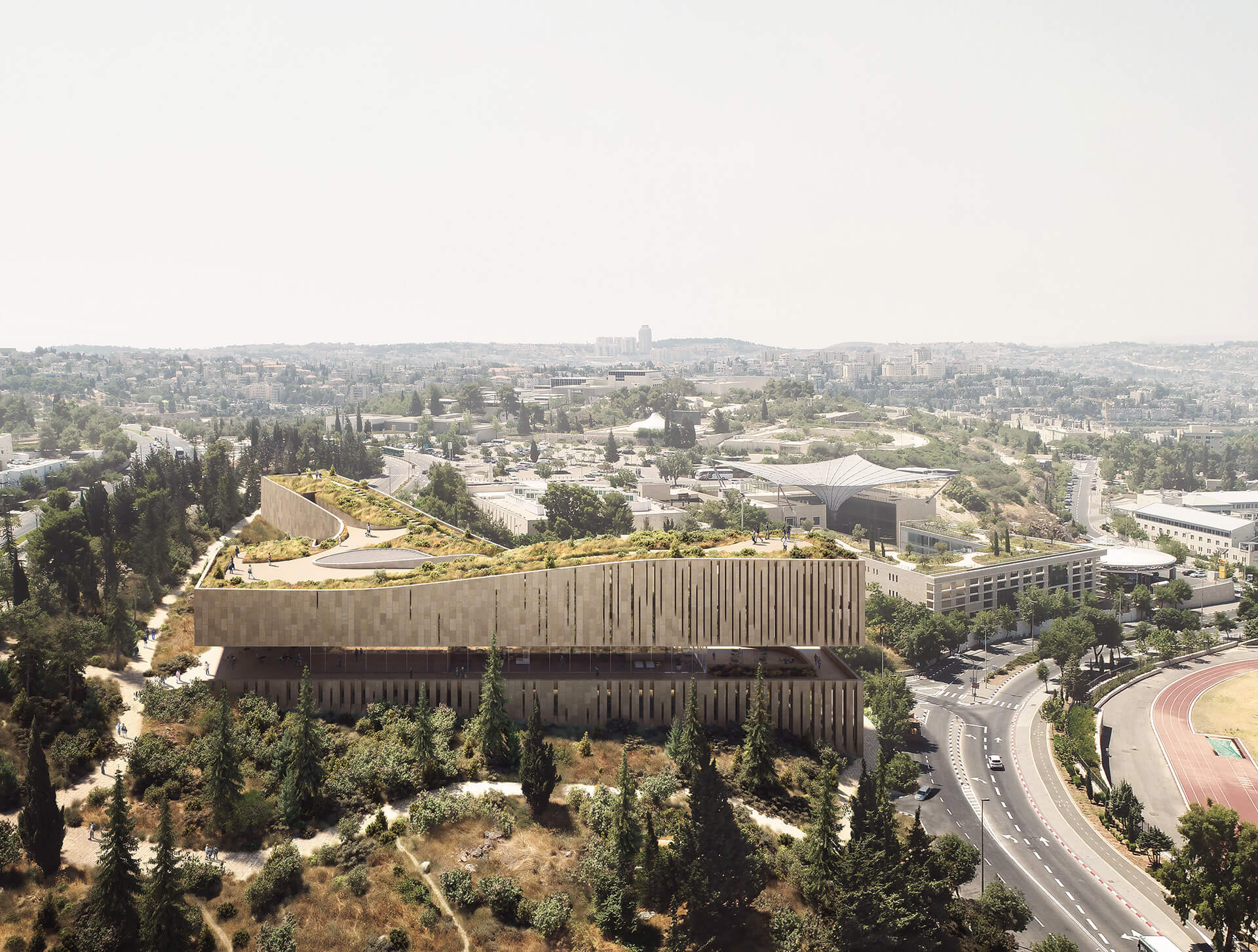 The building and its context | Academy of the Hebrew Language HQ | ODA | STIRworld