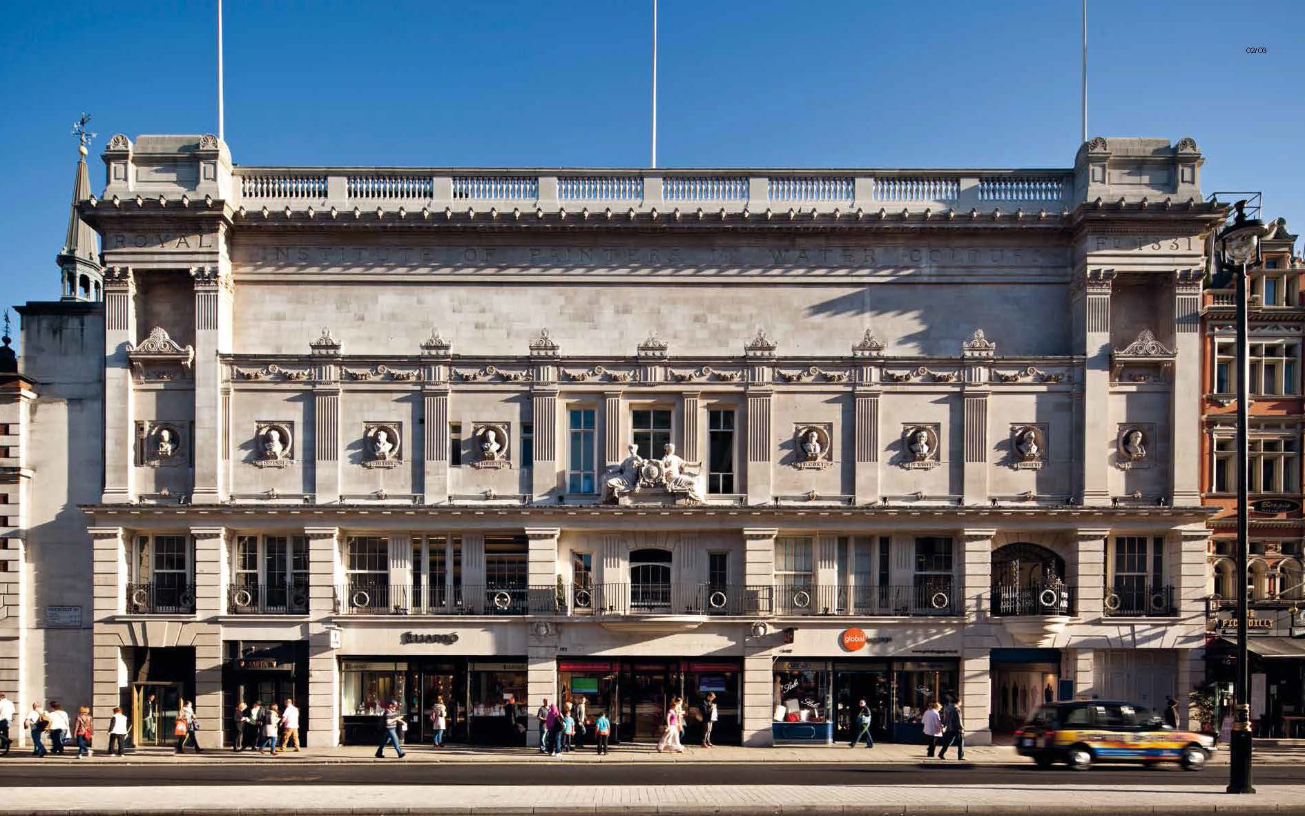 Existing facade| BAFTA headquarters at 195 Piccadilly| Benedetti Architects | STIR