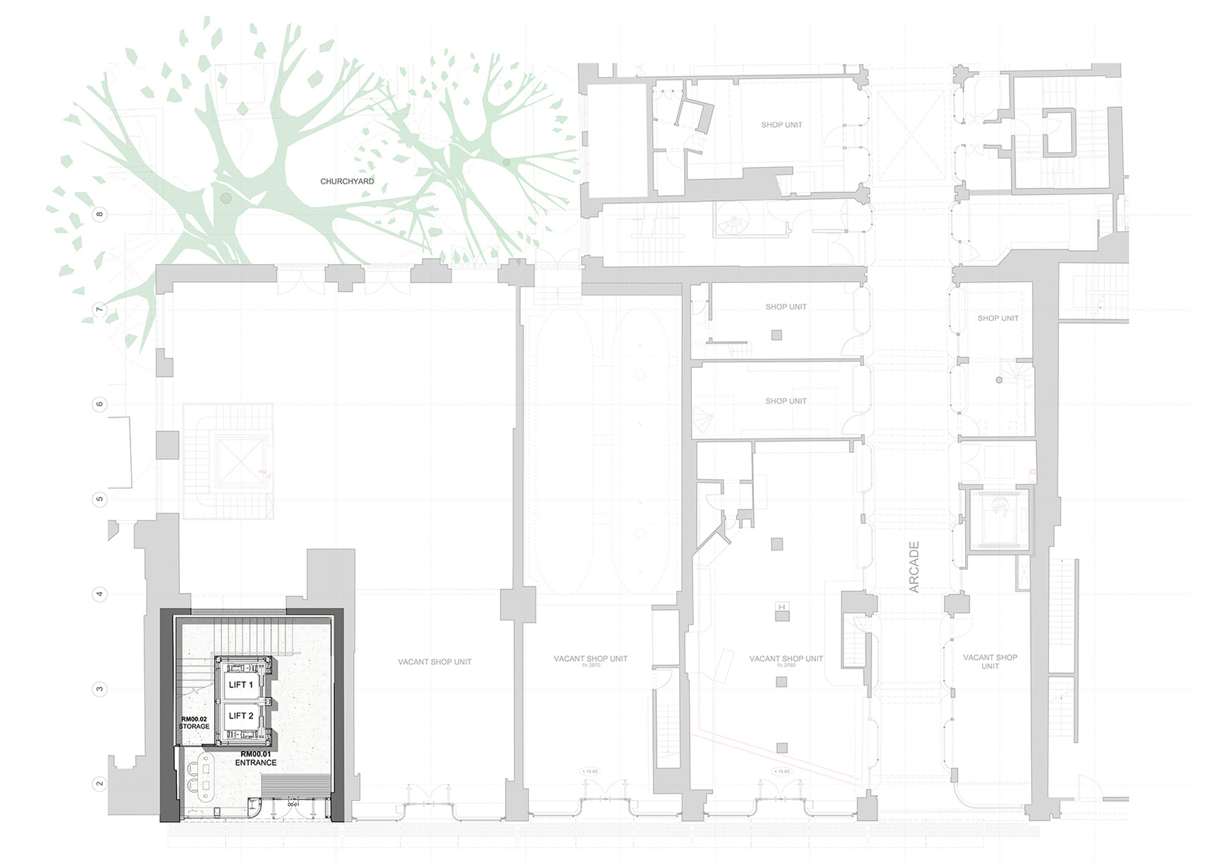 Ground Floor Plan| BAFTA headquarters at 195 Piccadilly| Benedetti Architects | STIR