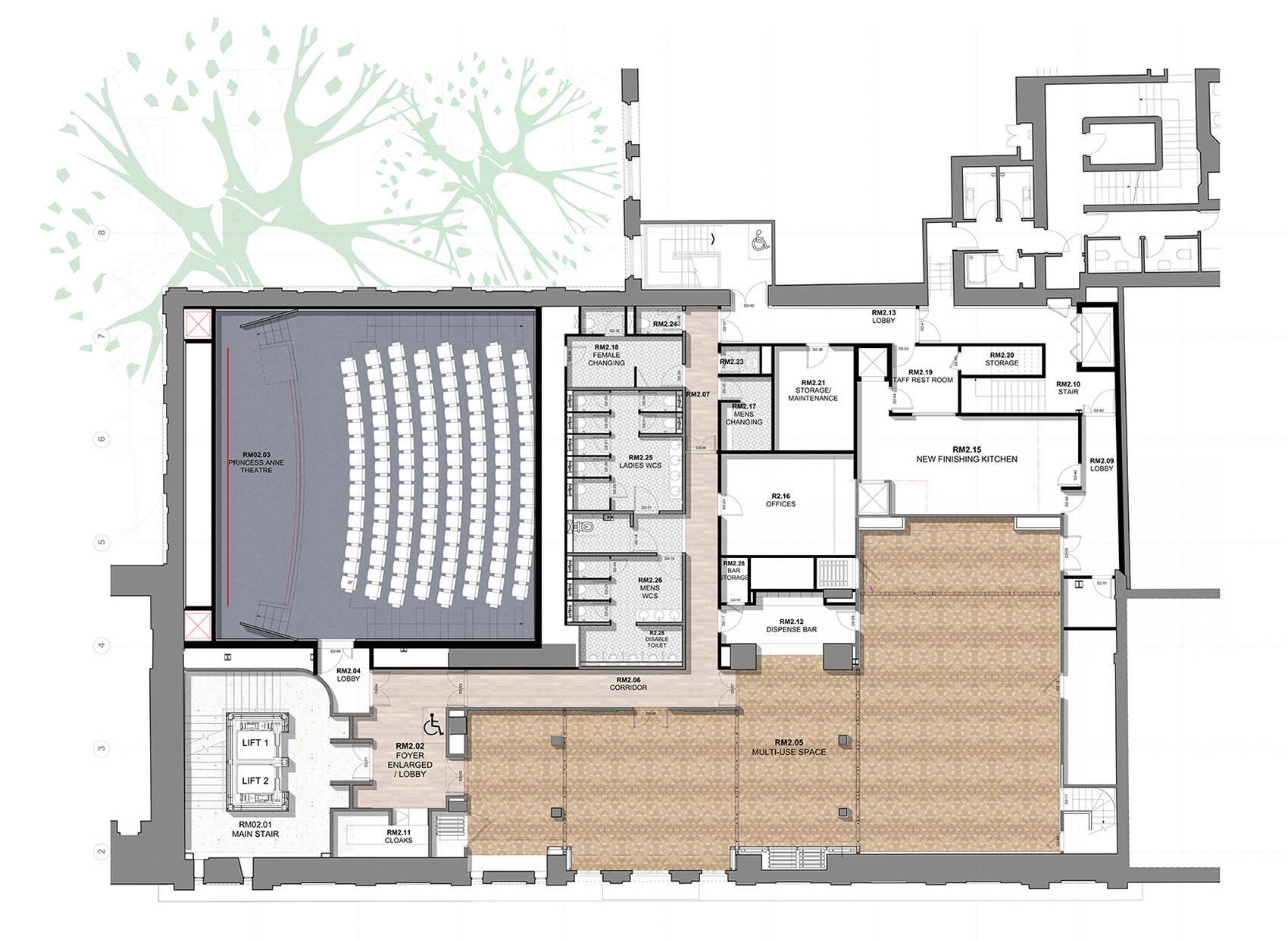 Second Floor Plan| BAFTA headquarters at 195 Piccadilly| Benedetti Architects| STIR