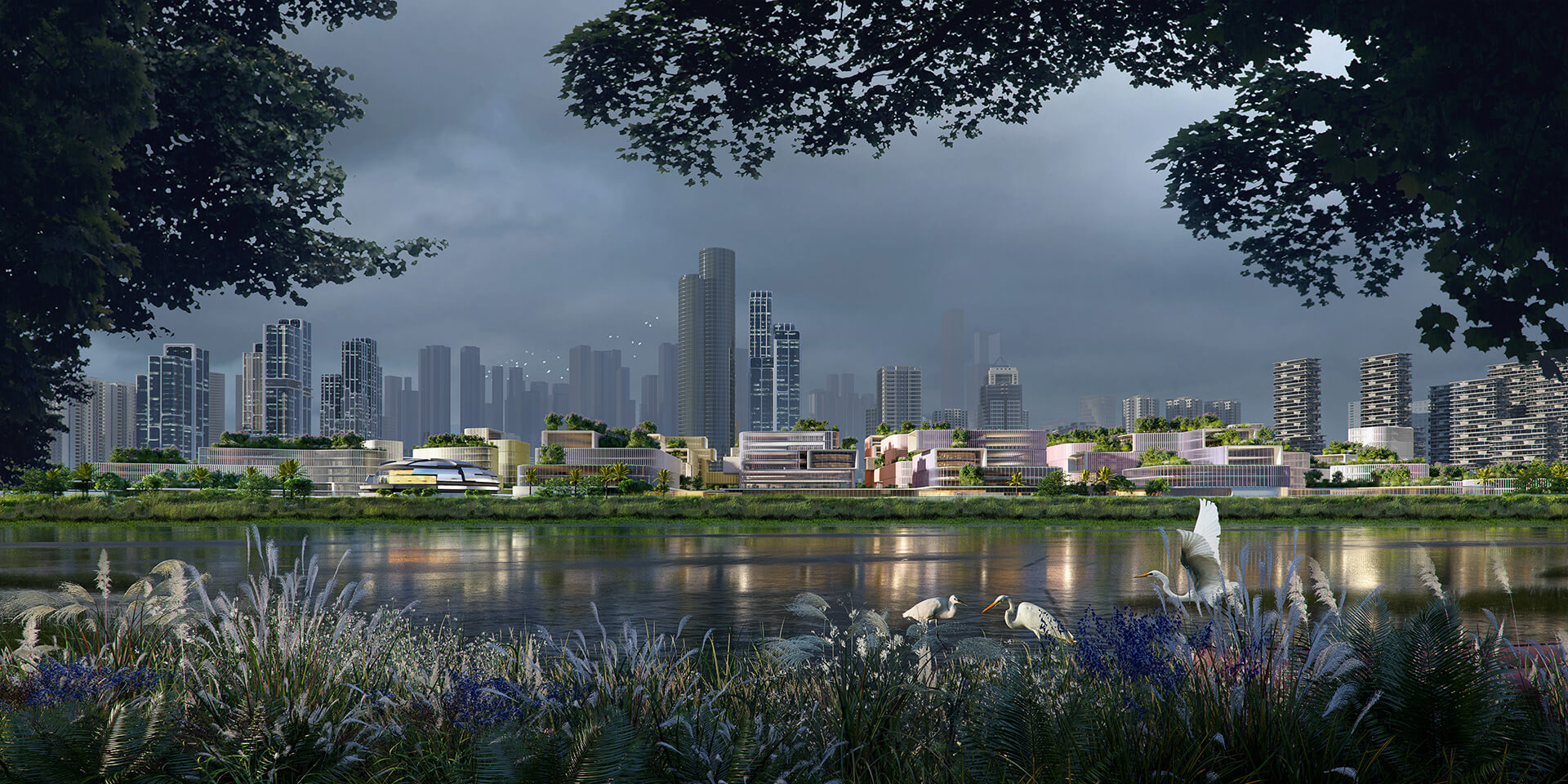 The new masterplan looks at redeveloping the Huangang port along Shenzhen river as a nodal hub | Huanggang Port Area Masterplan | Zaha Hadid Architects | STIRworld