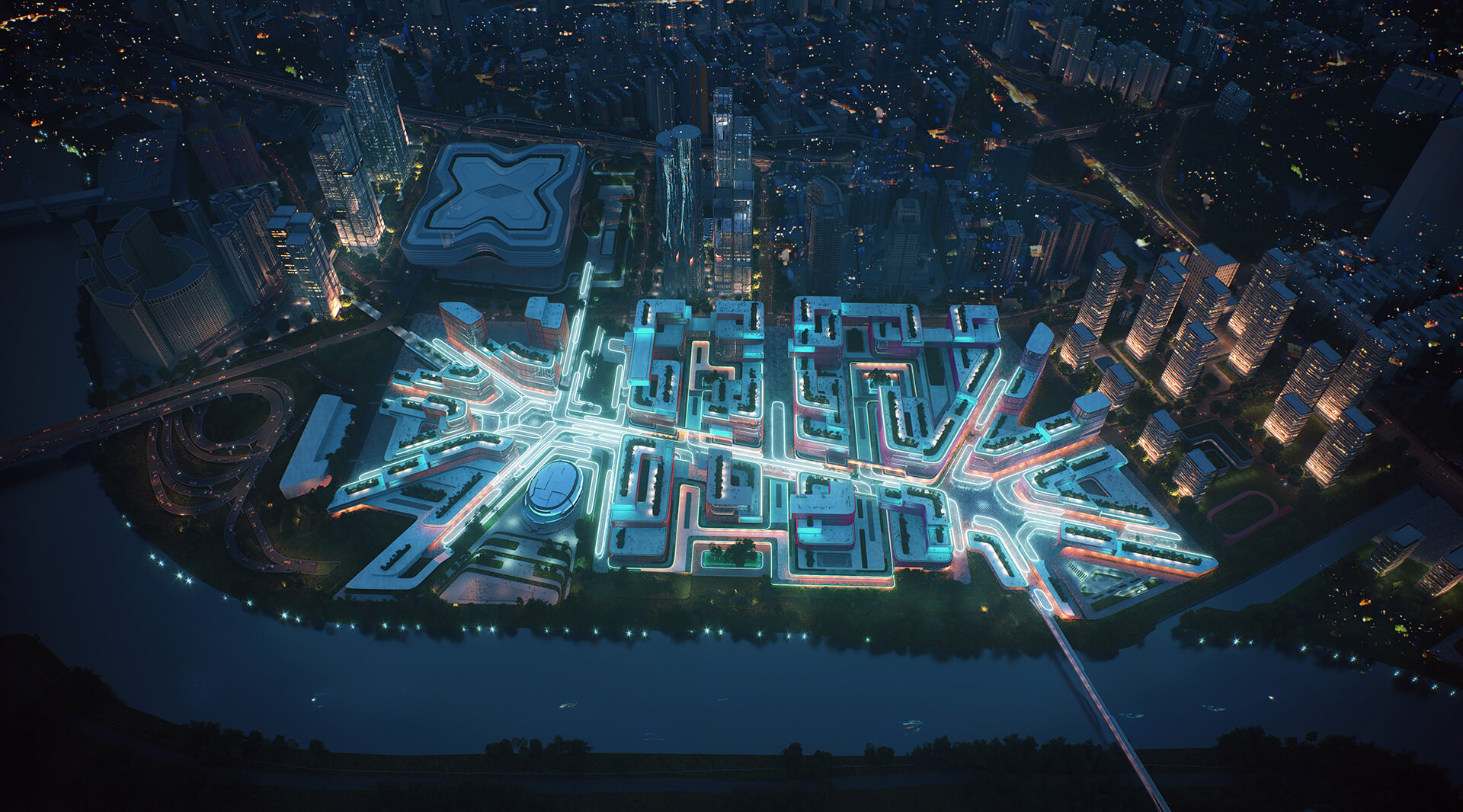 The Huanggang Port Area promises to be a hub for science and technology in Shenzhen | Huanggang Port Area Masterplan | Zaha Hadid Architects | STIRworld