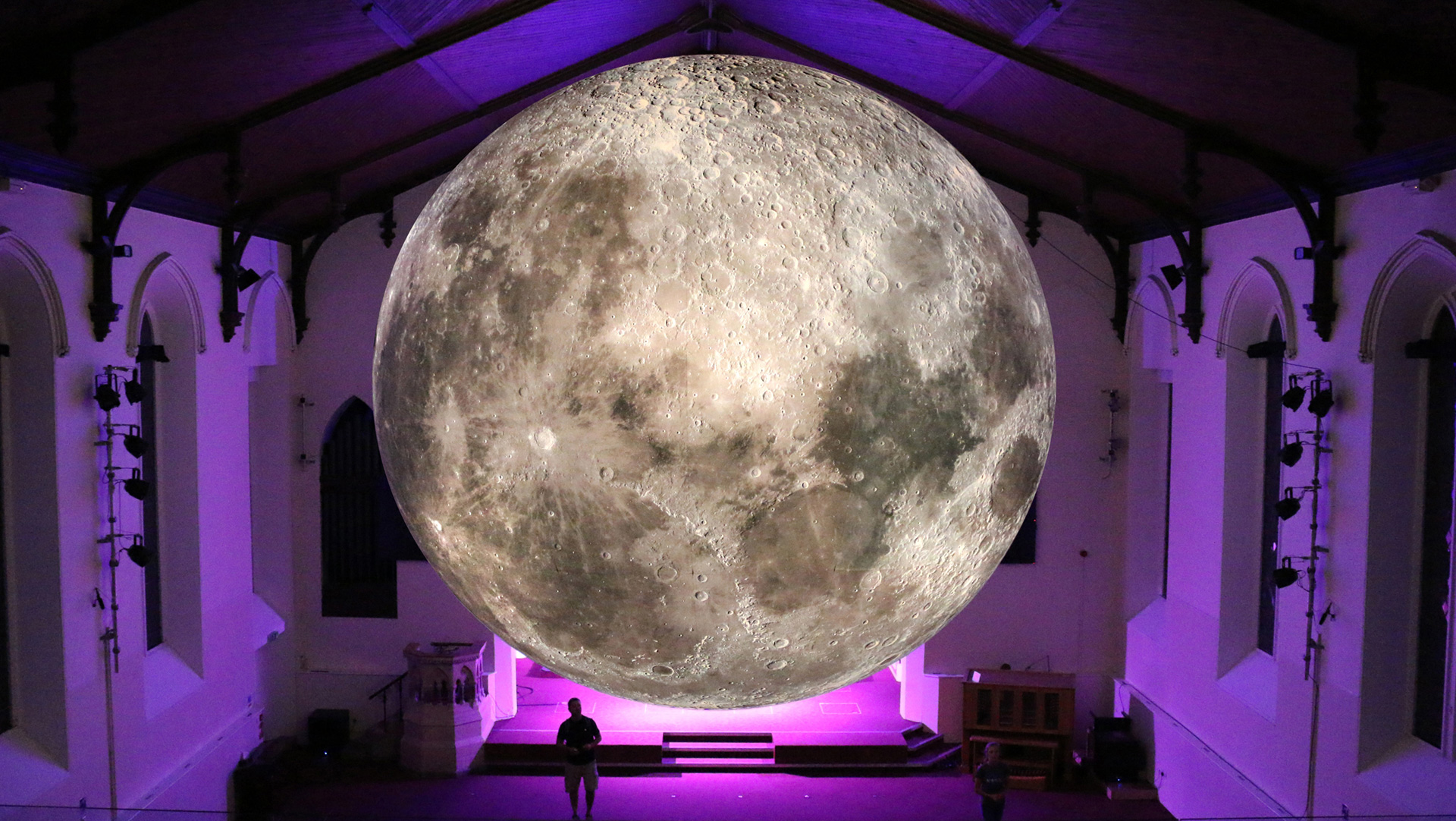 The moon in the southern hemisphere| Museum of the Moon| Luke Jerram| STIR