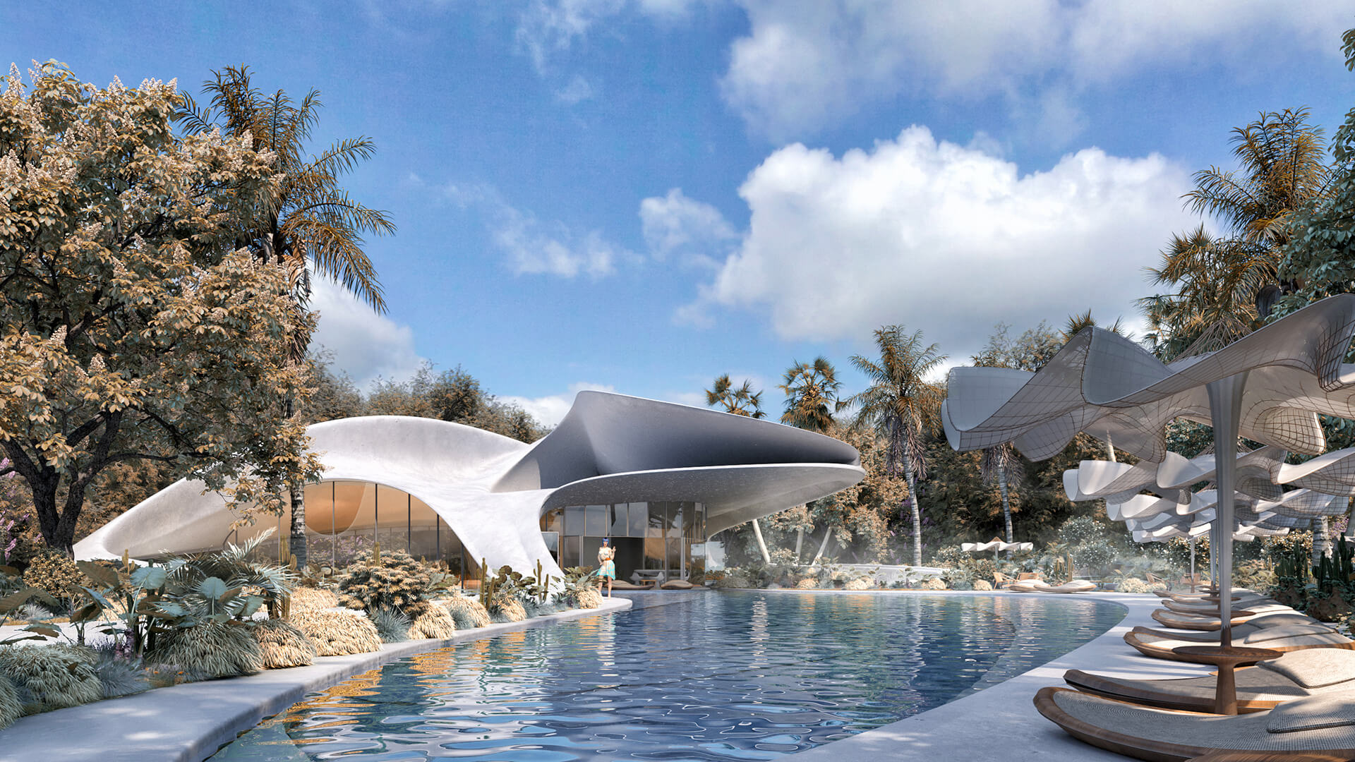 "A free flowing ""new generation luxury villa"" visualised by Mask Architects 