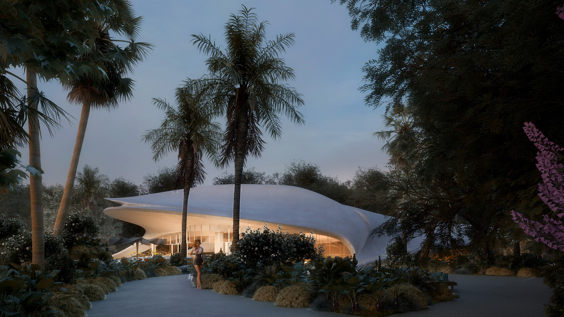 The refined, cave like villa imagined at night | Villa G01 imagined by Mask Architects | STIRworld