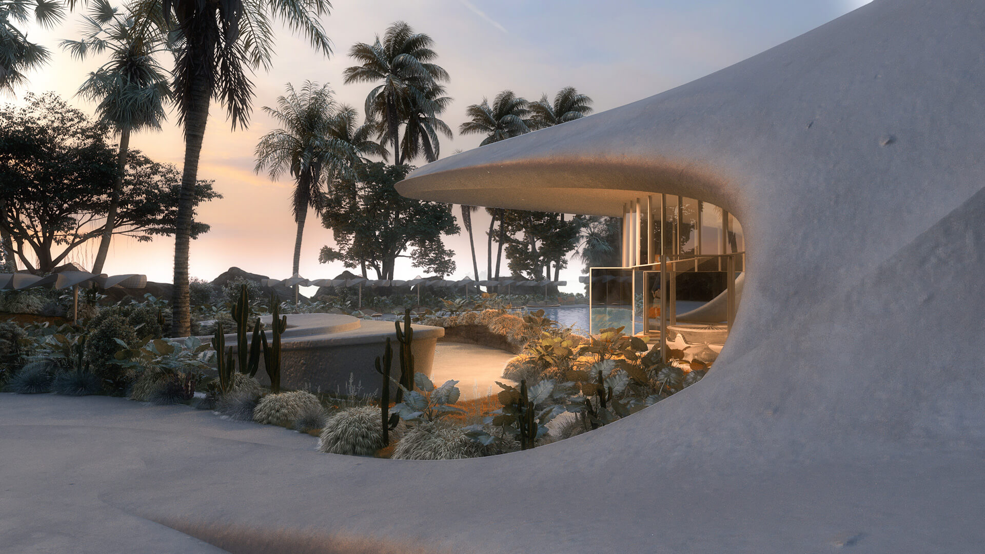 One can walk atop the polished, white roof | Villa G01 imagined by Mask Architects | STIRworld