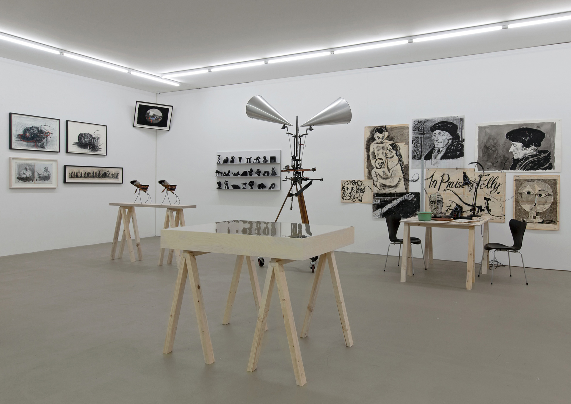 Studioroom, 1994-2018, include reconstruction of studio set for Drawing Lesson 50: Learning from the Old Masters (In Praise of Folly), 2018| A Poem That Is Not Our Own| William Kentridge| STIR