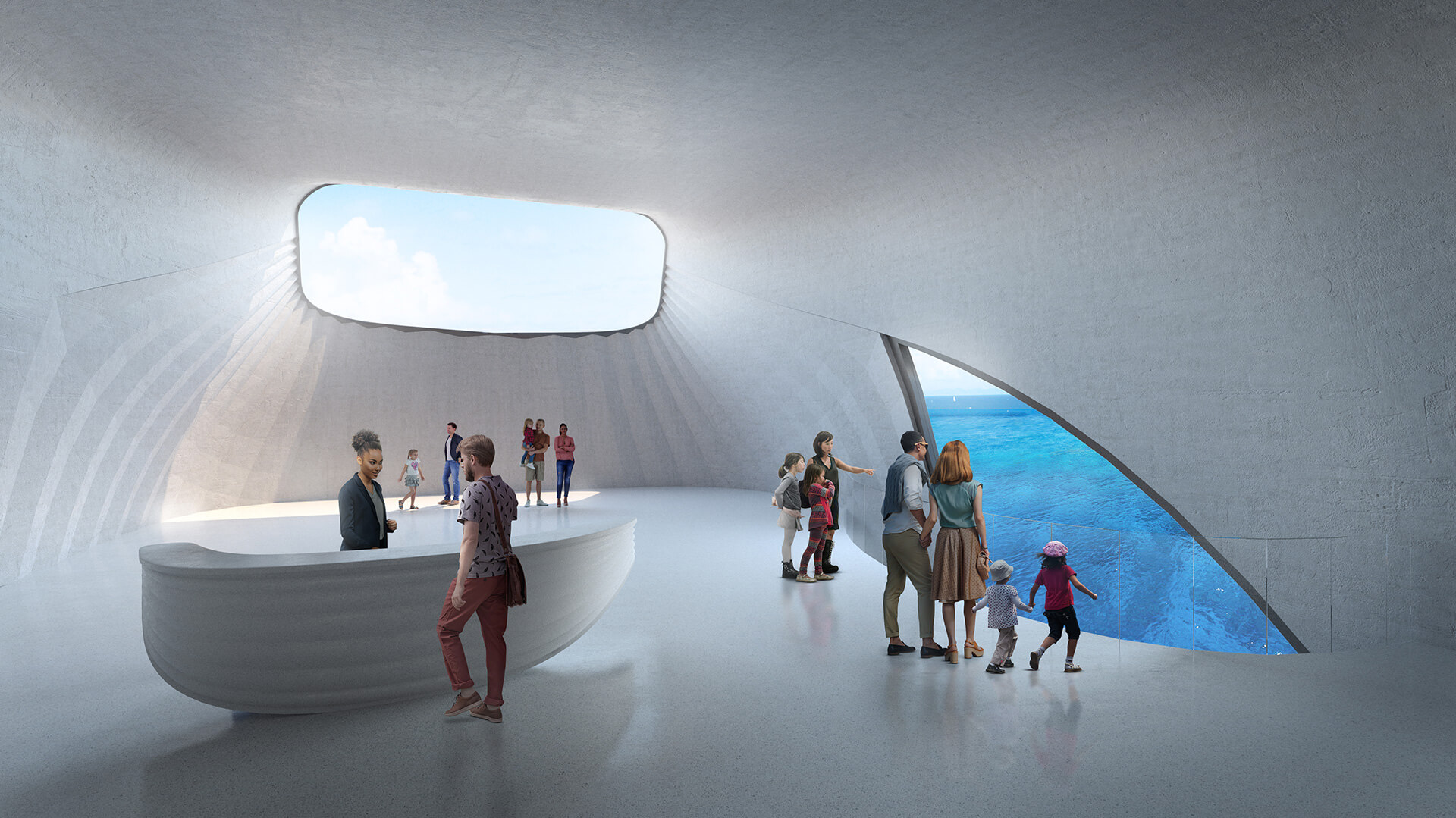 The Centre will also include art galleries, exhibition spaces, viewing stations and an underwater restaurant | Australian Underwater Discovery Centre by Baca Architects | STIRworld