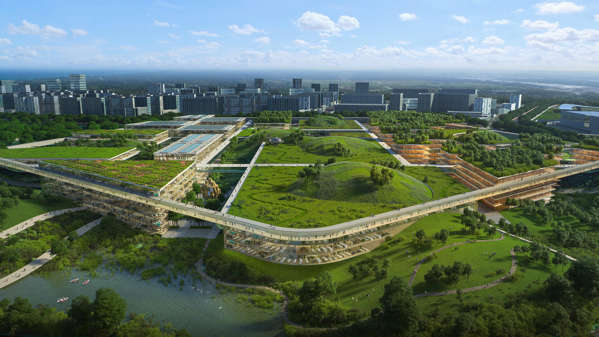 The masterplan includes an International Education Park and Transit Oriented Development | Chengdu Future City Masterplan | OMA | STIRworld