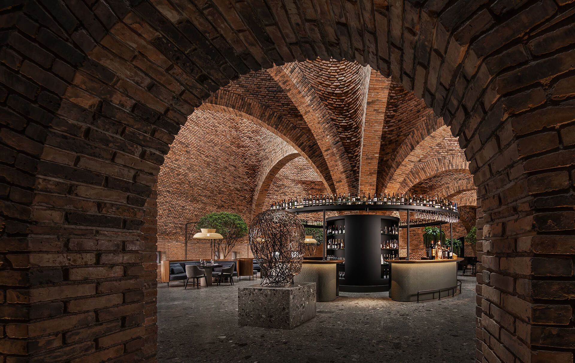 The restaurant displays a classy yet rustic setting | 50% Cloud Artists Lounge by Cheng Chung Design | STIRworld