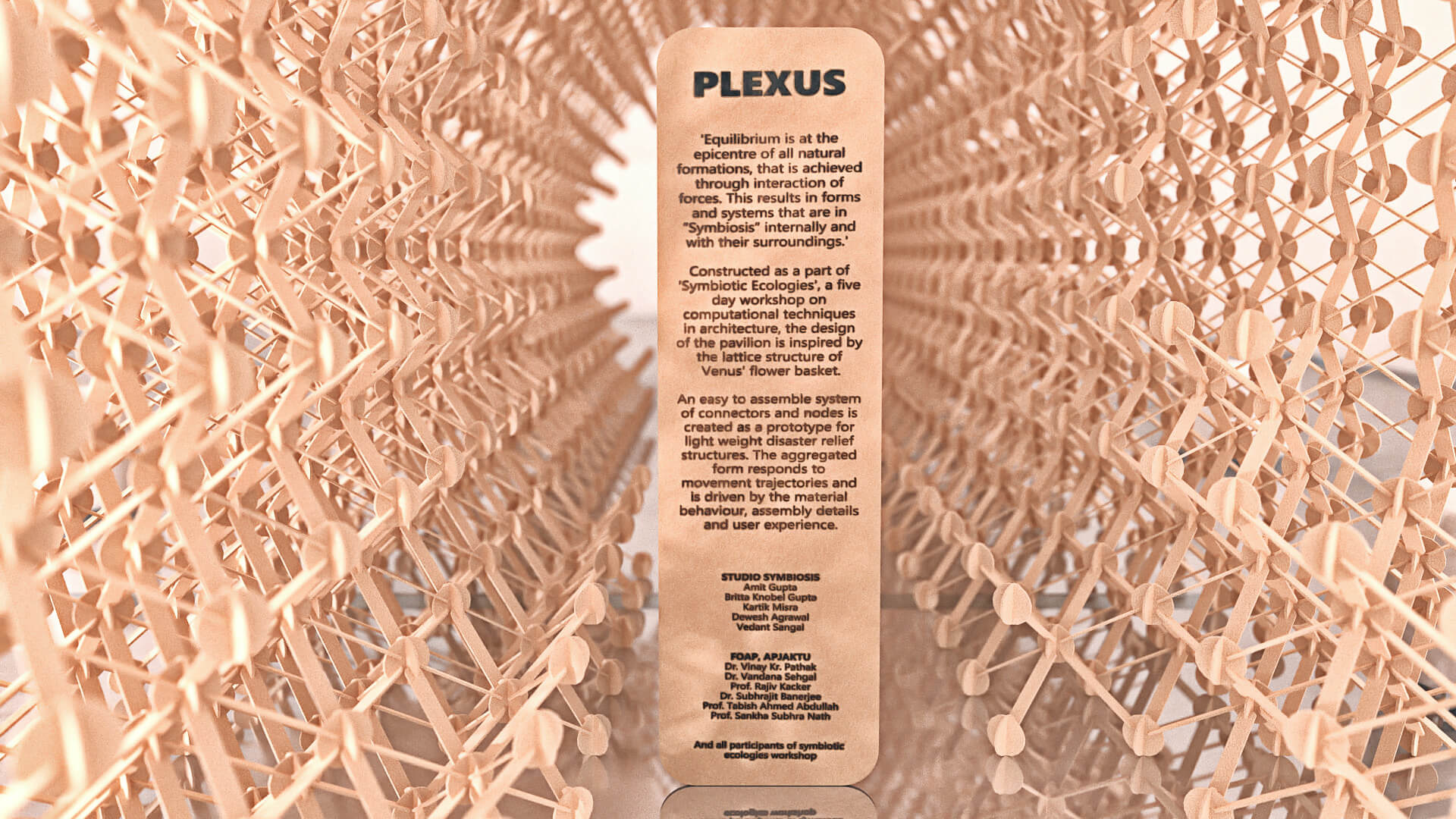 The amorphous frame is inspired by the latticed body of a Venus flower basket | Plexus by Studio Symbiosis | STIRworld