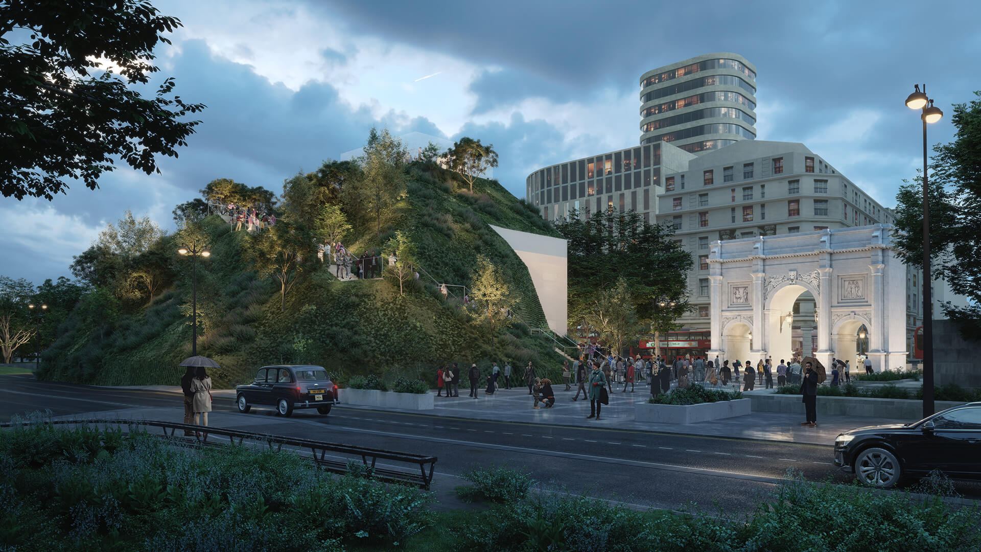 The Hill presents a new perspective of the Marble Arch | Marble Arch Hill designed by MVRDV| STIRworld