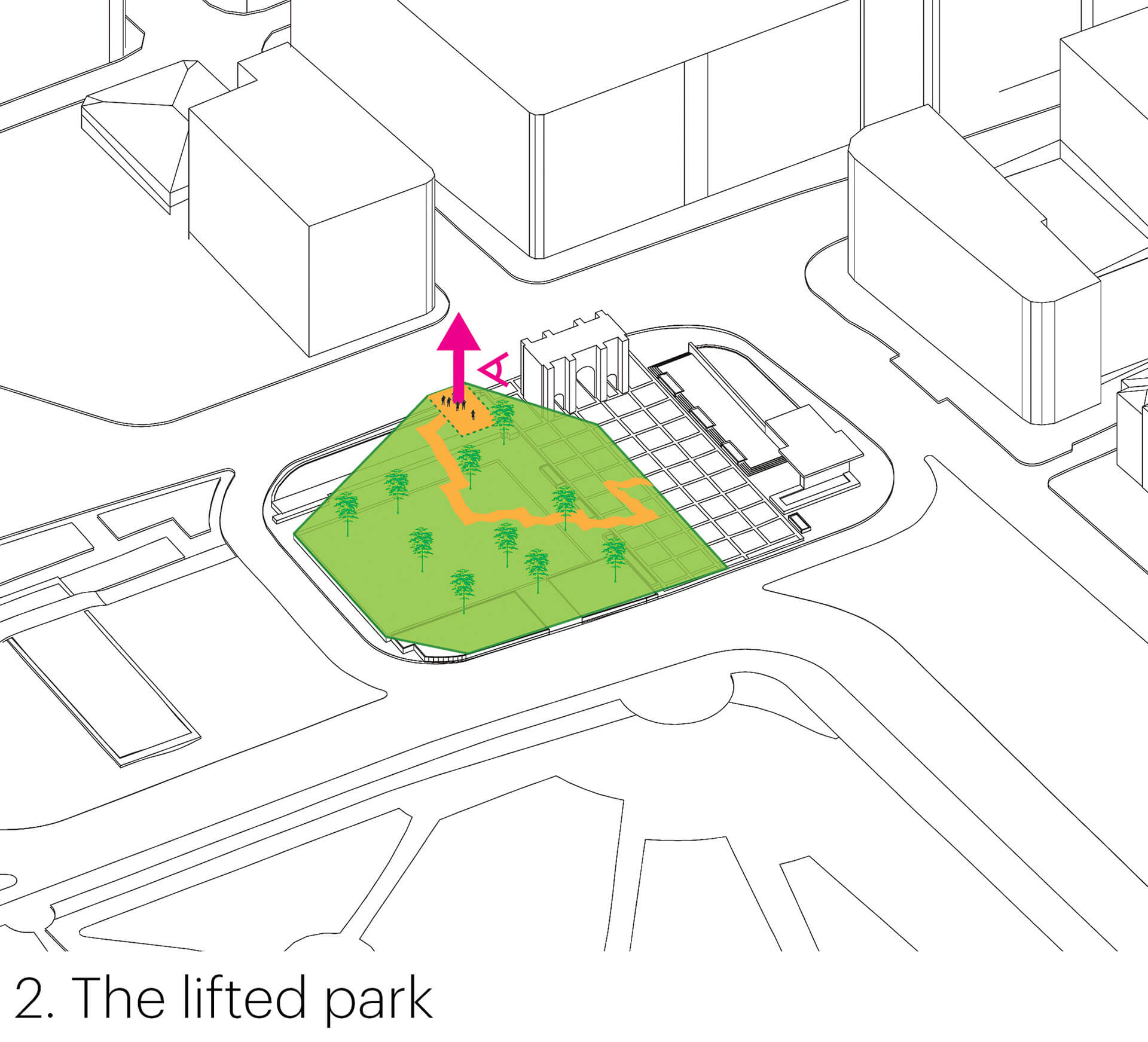 Plan to give an elevation to the park | Marble Arch Hill designed by MVRDV| STIRworld