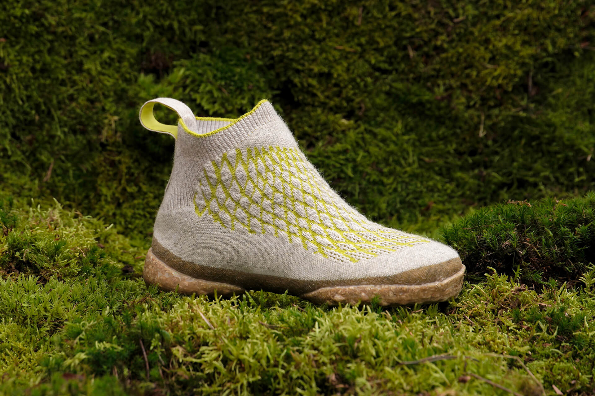 The natural properties of the shoe's fabric provide water absorption and exhibit anti-static properties  Sneature bio-shoes   Emilie Burfeind   STIRworld