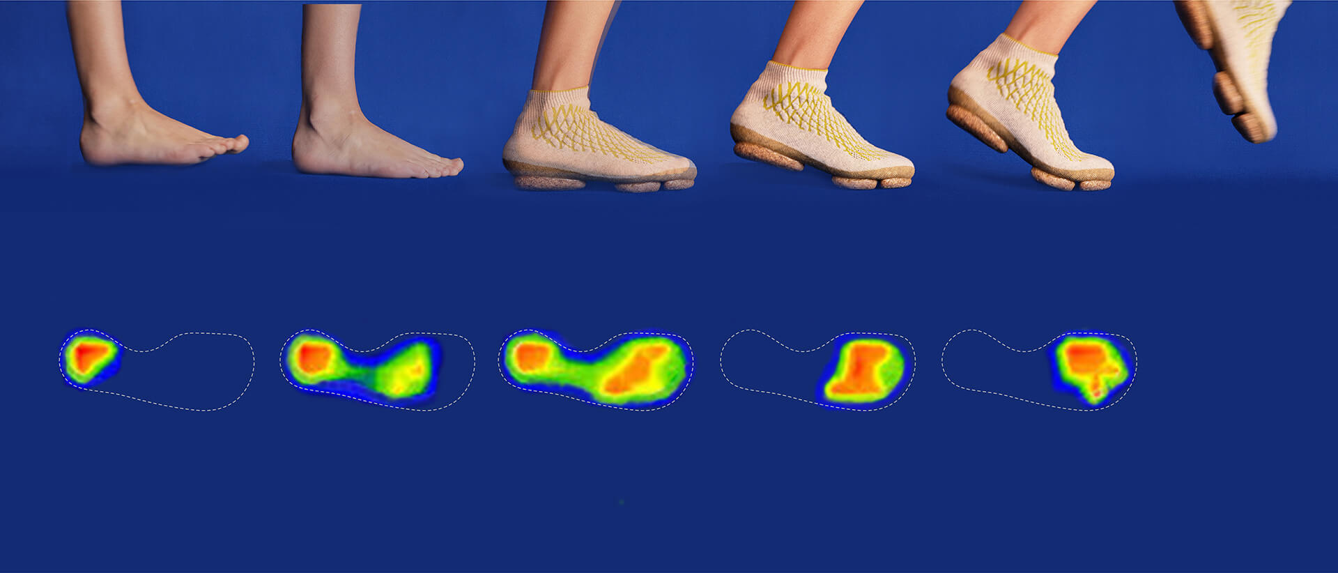 Emilie Burfeind noted pedobarographic measurements of the foot pressure while walking, taking into account material properties and physiological conditions of the foot   Sneature bio-shoes   Emilie Burfeind   STIRworld