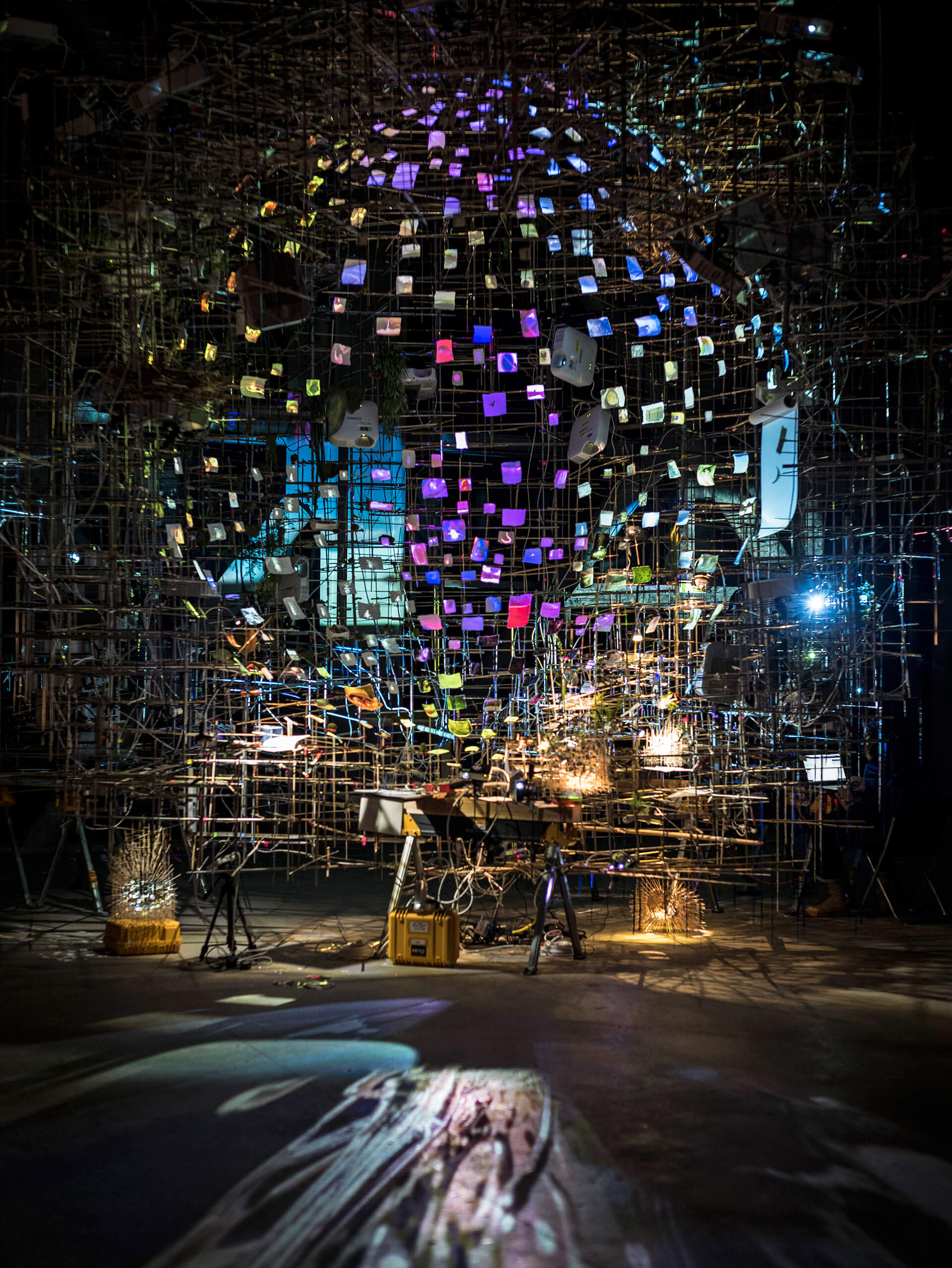 Twice Twilight on display at Fondation Cartier, Paris at 'Night into Day' by Sarah Sze| STIRworld