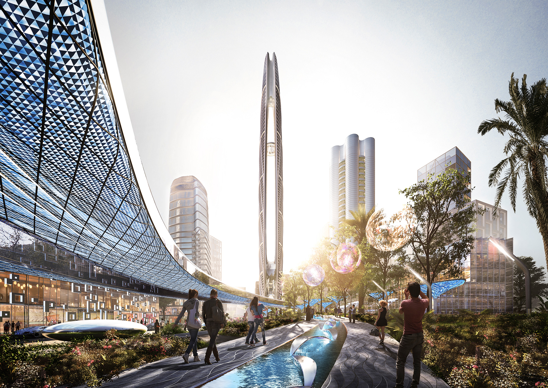 The Burj Jumeira has been planned as a multi-functional tower with retail outlets along its periphery| Skidmore, Owings & Merrill LLP| STIR