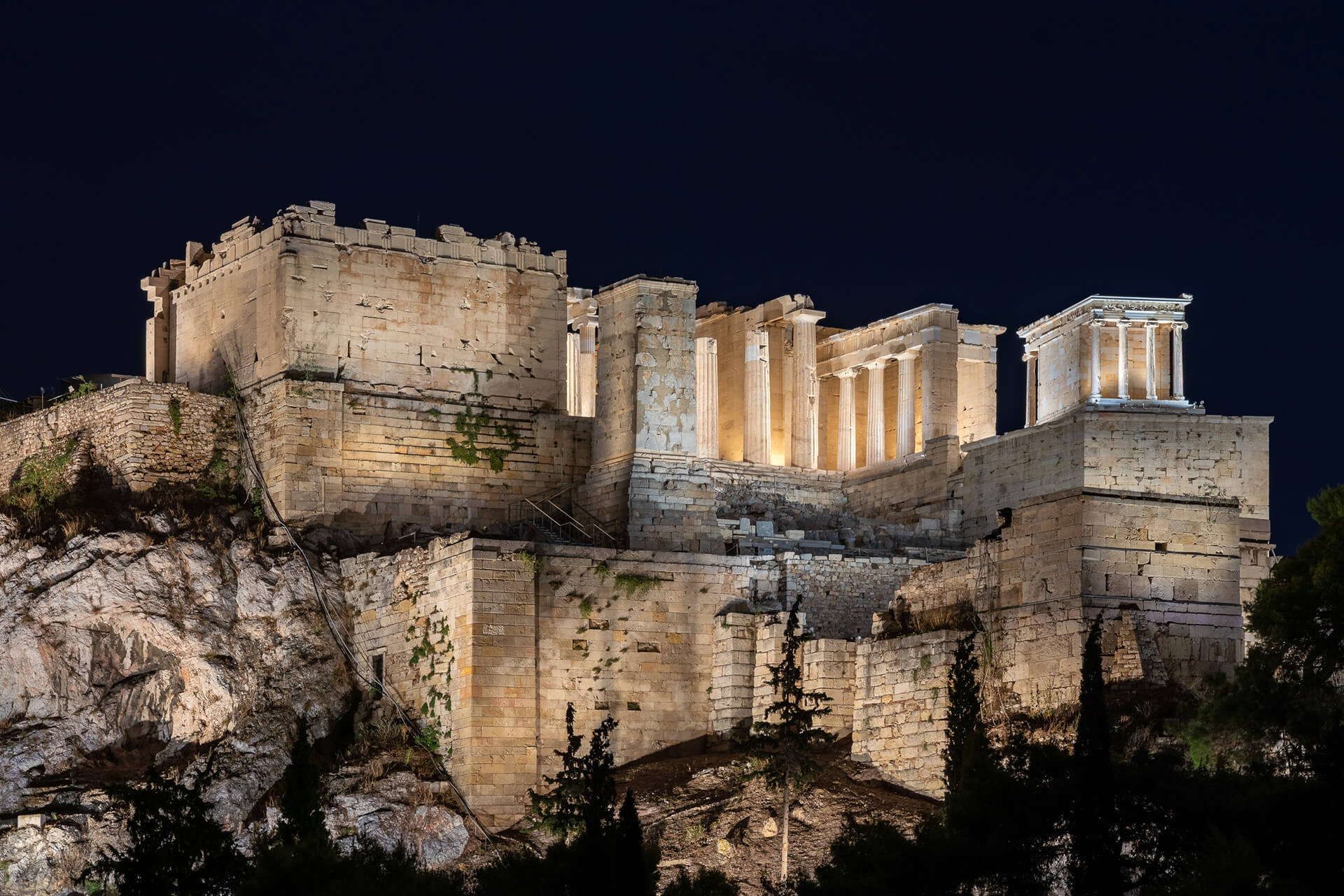 In 2020 the Acropolis was lit-up by sophisticated and picturesque light display, designed by Emmy award winning lighting designer Eleftheria Deko | Acropolis of Athens by Onassis Foundation designed by Eleftheria Deko | STIRworld