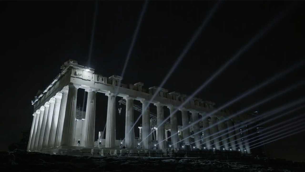 The new lighting design launched last year illuminates the iconic monuments of the Acropolis hill in Athens, by Onassis Foundation designed by Eleftheria Deko | STIRworld