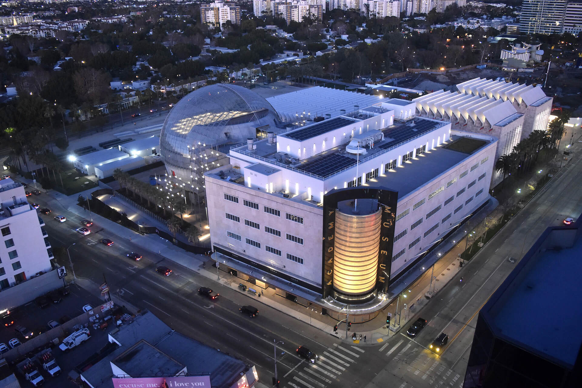 An aerial view of the Academy Museum of Motion Pictures designed within a 1930s department store in Western Los Angeles | Academy Museum of Motion Pictures | Renzo Piano Building Workshop | STIRworld