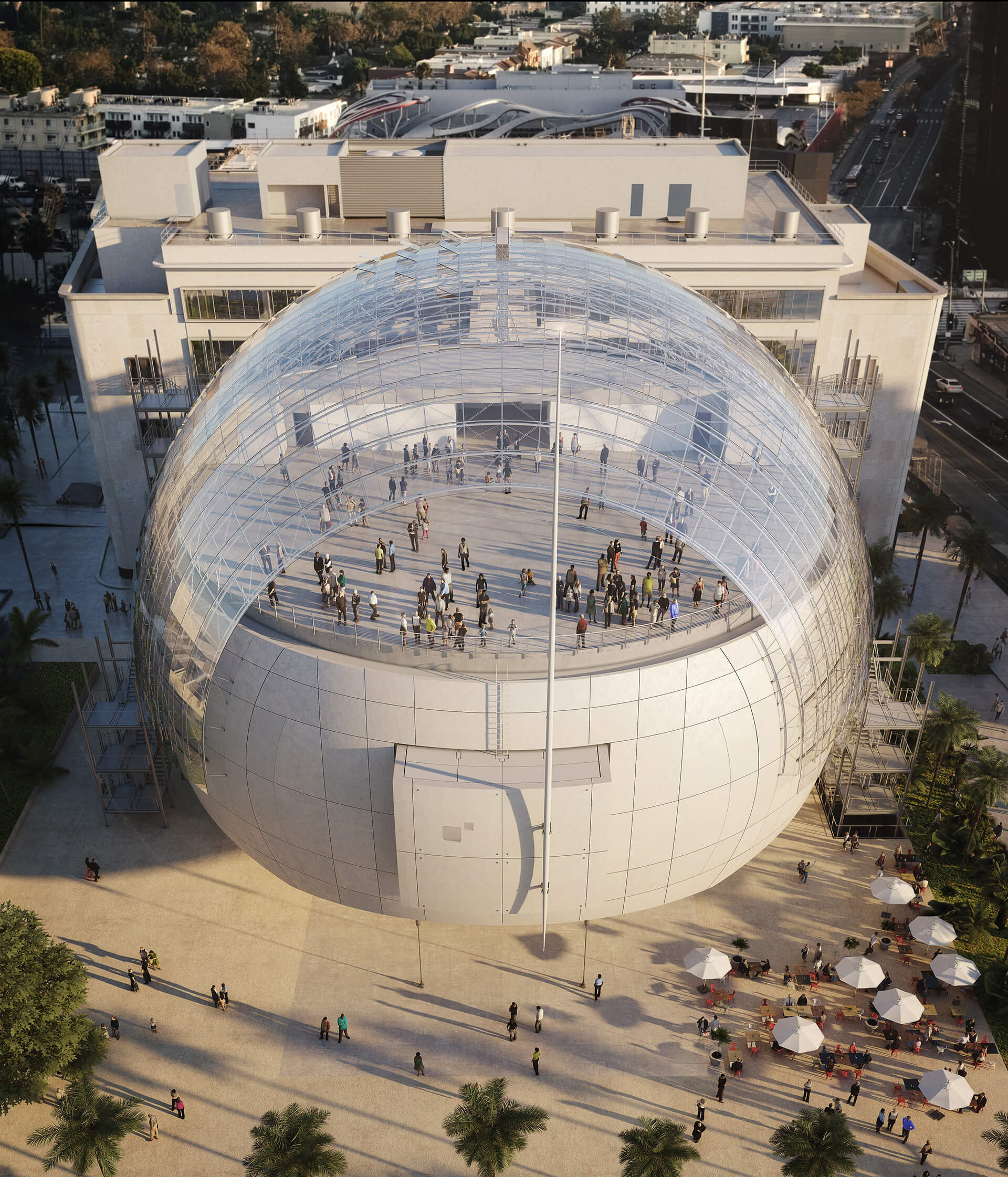 A visualisation of the dome | Academy Museum of Motion Pictures | Renzo Piano Building Workshop | STIRworld