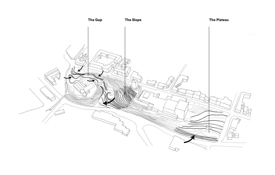 Esbjerg Bypark – diagram of the site topography| Henning Larsen| STIR